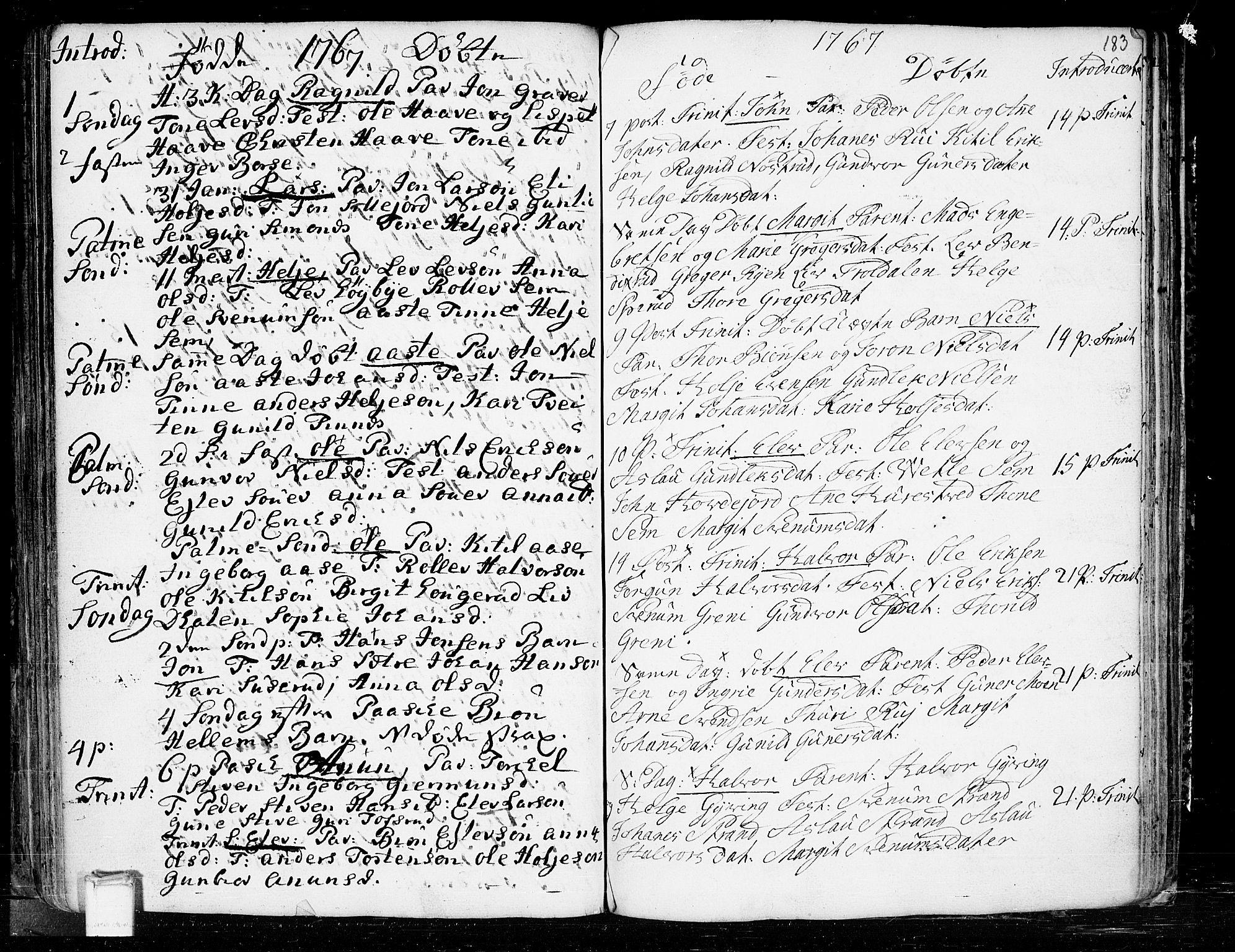 SAKO, Heddal kirkebøker, F/Fa/L0003: Ministerialbok nr. I 3, 1723-1783, s. 183