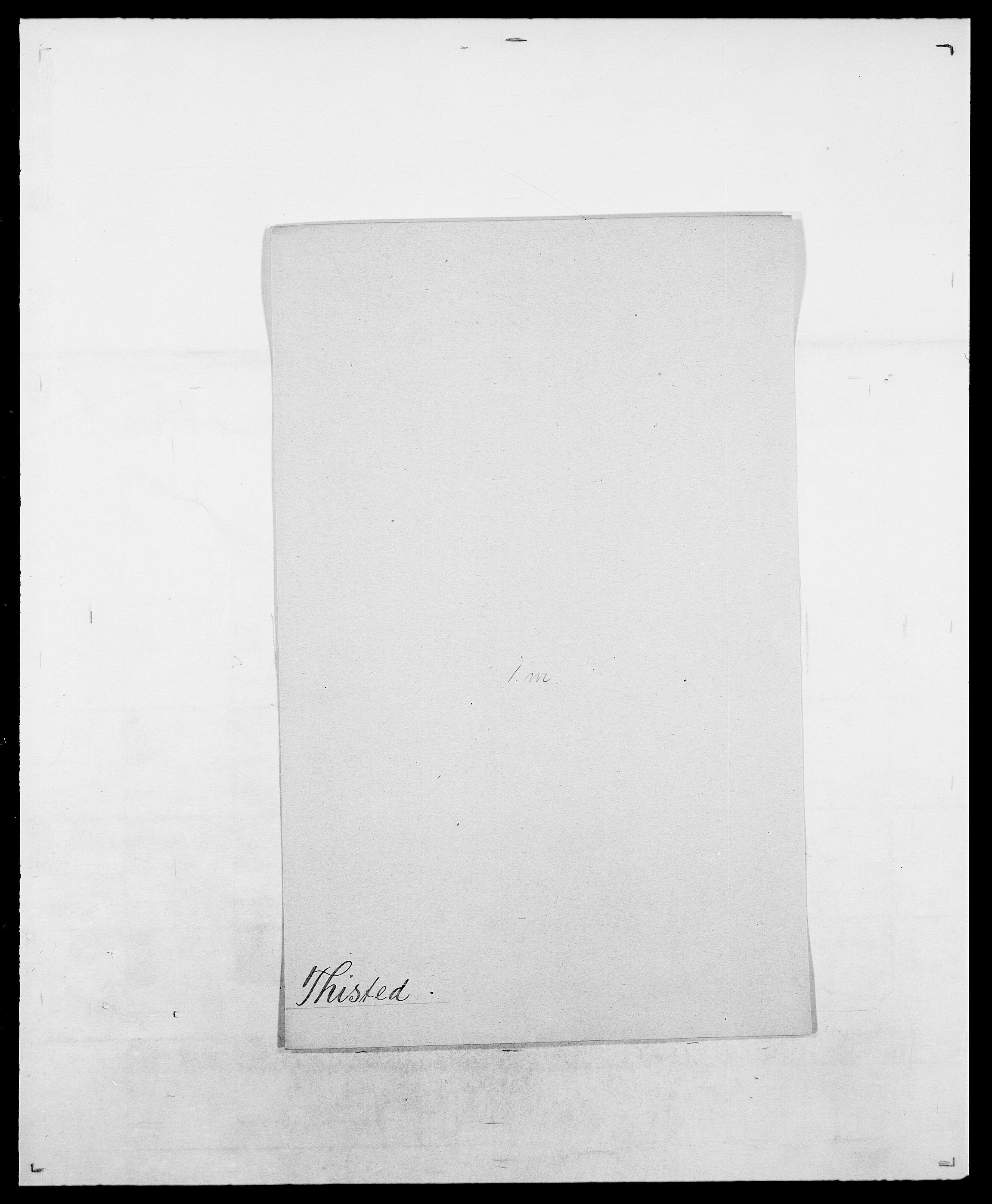 SAO, Delgobe, Charles Antoine - samling, D/Da/L0038: Svanenskjold - Thornsohn, s. 734