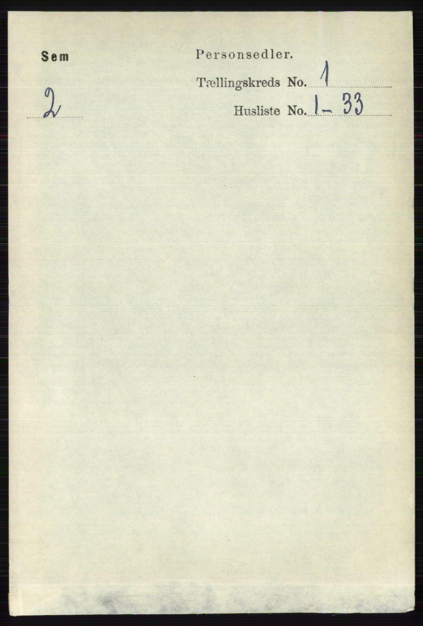 RA, Folketelling 1891 for 0721 Sem herred, 1891, s. 125