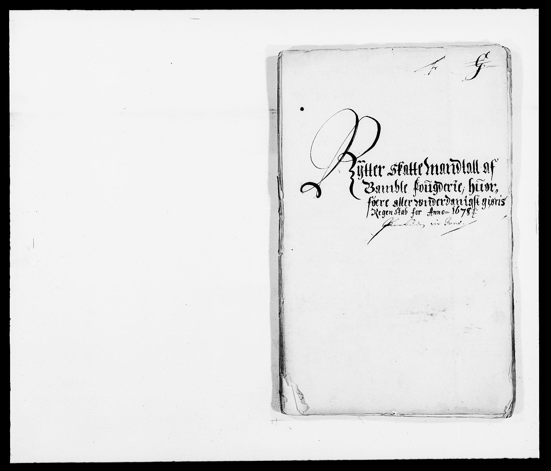 RA, Rentekammeret inntil 1814, Reviderte regnskaper, Fogderegnskap, R34/L2044: Fogderegnskap Bamble, 1678-1679, s. 120