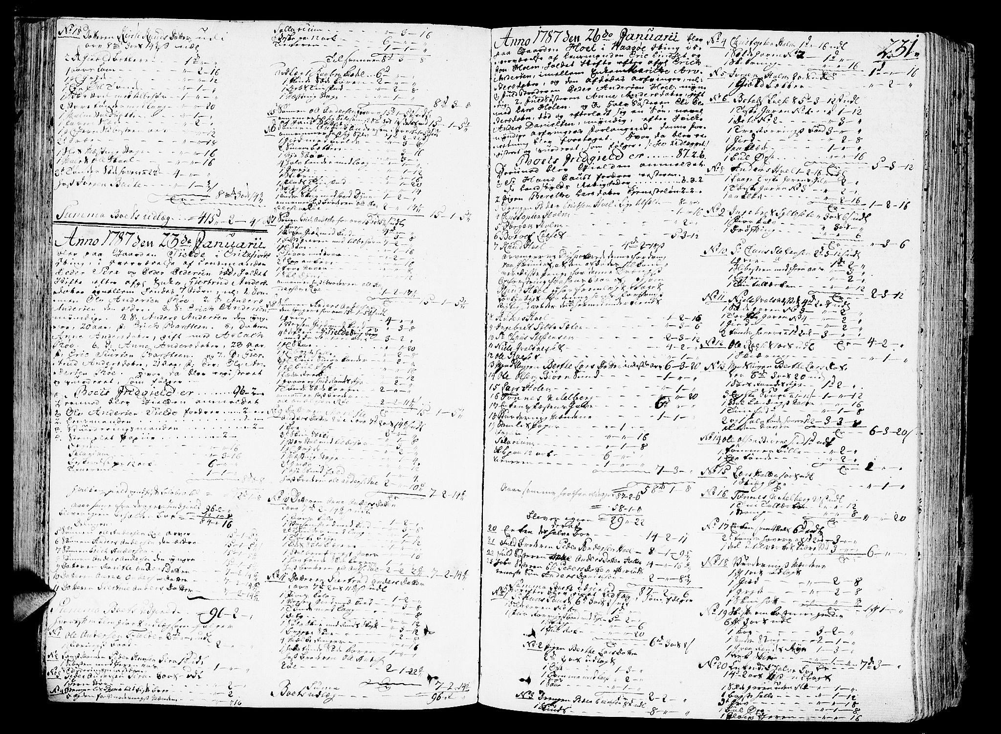 SAT, Romsdal sorenskriveri, 3/3A/L0011: Skifteprotokoll, 1782-1789, s. 230b-231a