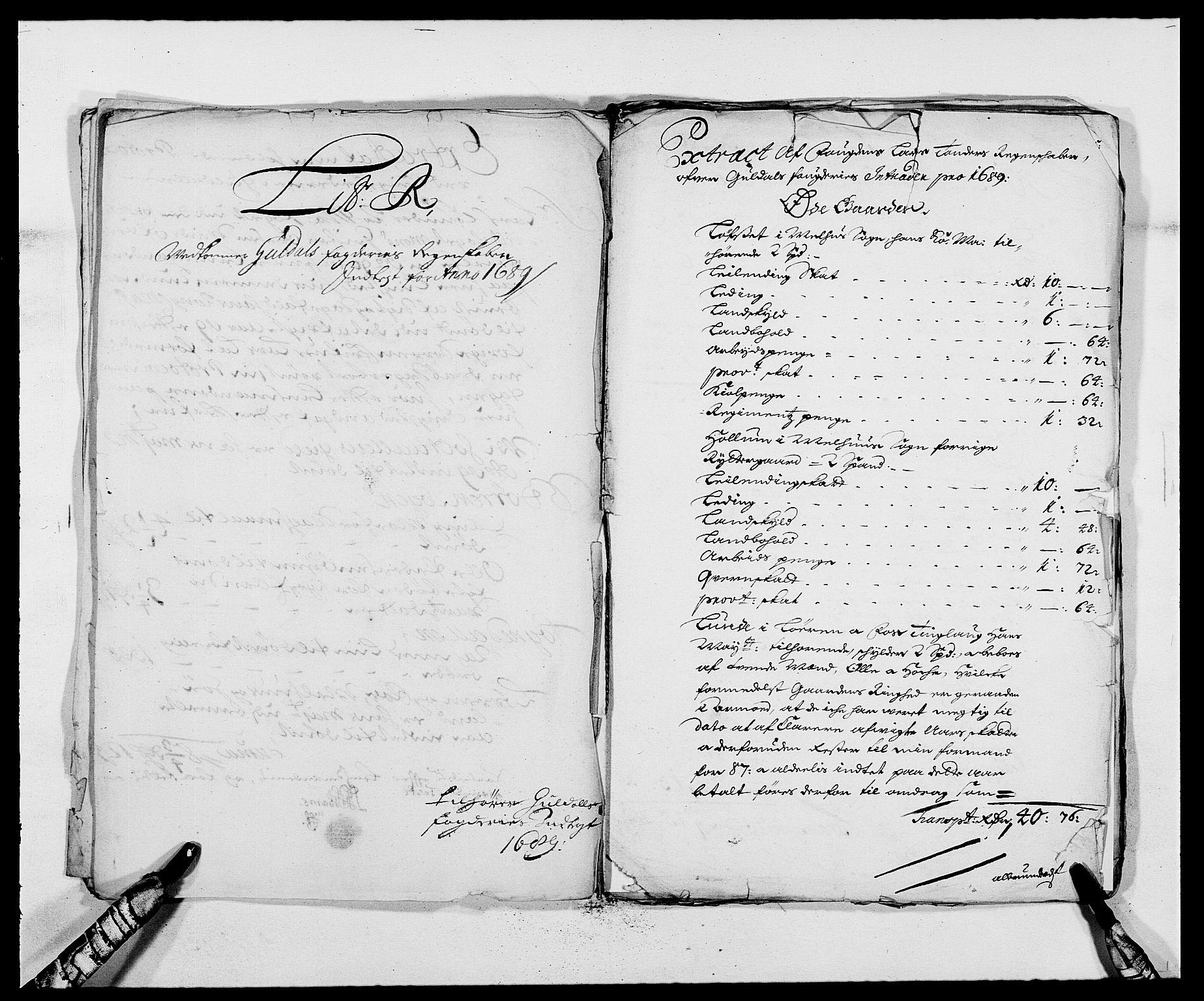 RA, Rentekammeret inntil 1814, Reviderte regnskaper, Fogderegnskap, R59/L3940: Fogderegnskap Gauldal, 1689-1690, s. 152