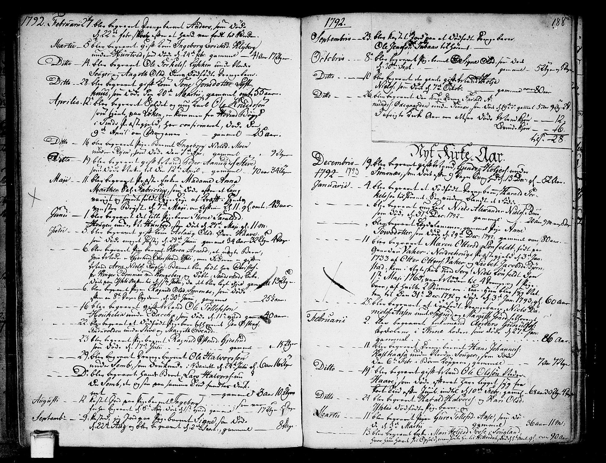 SAKO, Heddal kirkebøker, F/Fa/L0004: Ministerialbok nr. I 4, 1784-1814, s. 188