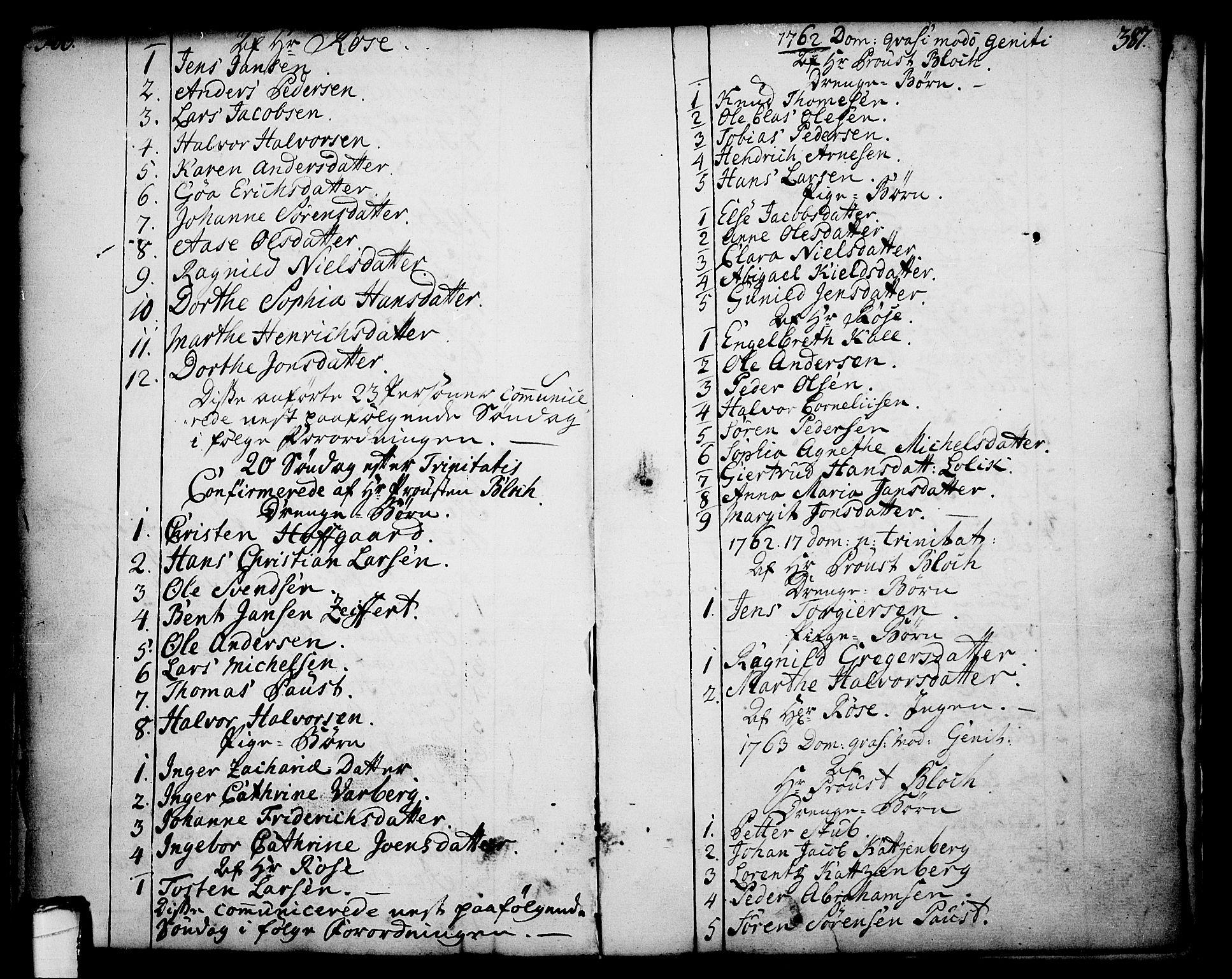 SAKO, Skien kirkebøker, F/Fa/L0003: Ministerialbok nr. 3, 1755-1791, s. 386-387