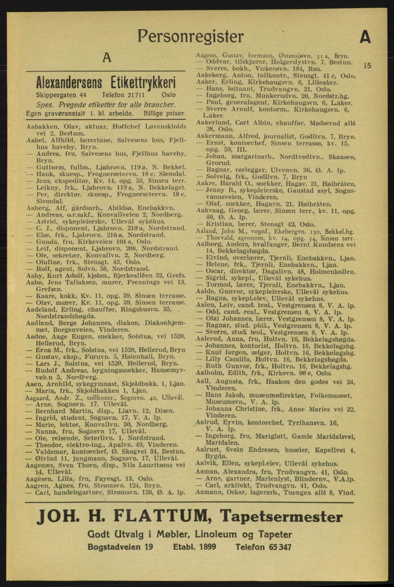 PUBL, Aker adressebok/adressekalender, 1937-1938, s. 15