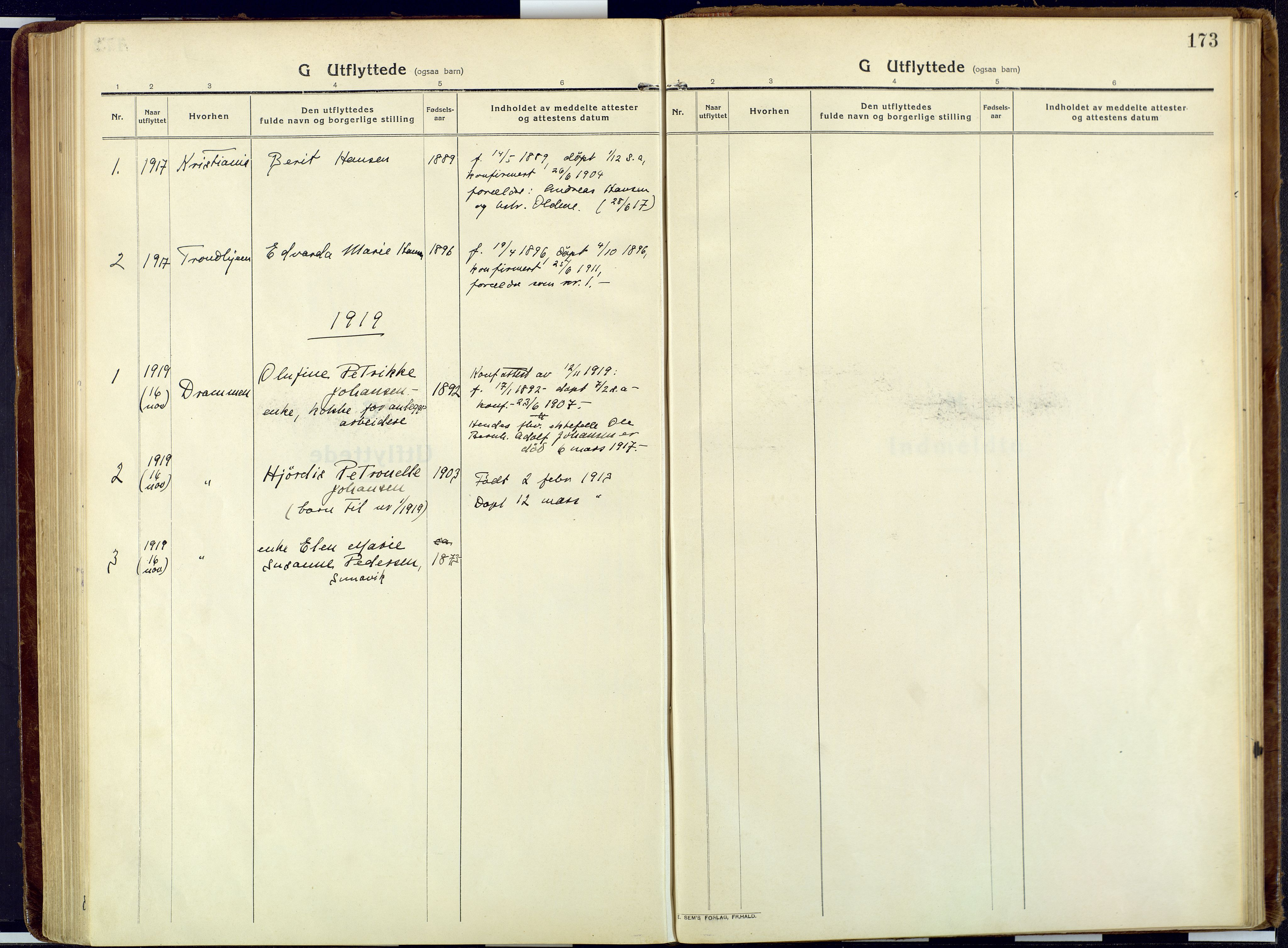 SATØ, Talvik sokneprestkontor, H/Ha/L0018kirke: Ministerialbok nr. 18, 1915-1924, s. 173