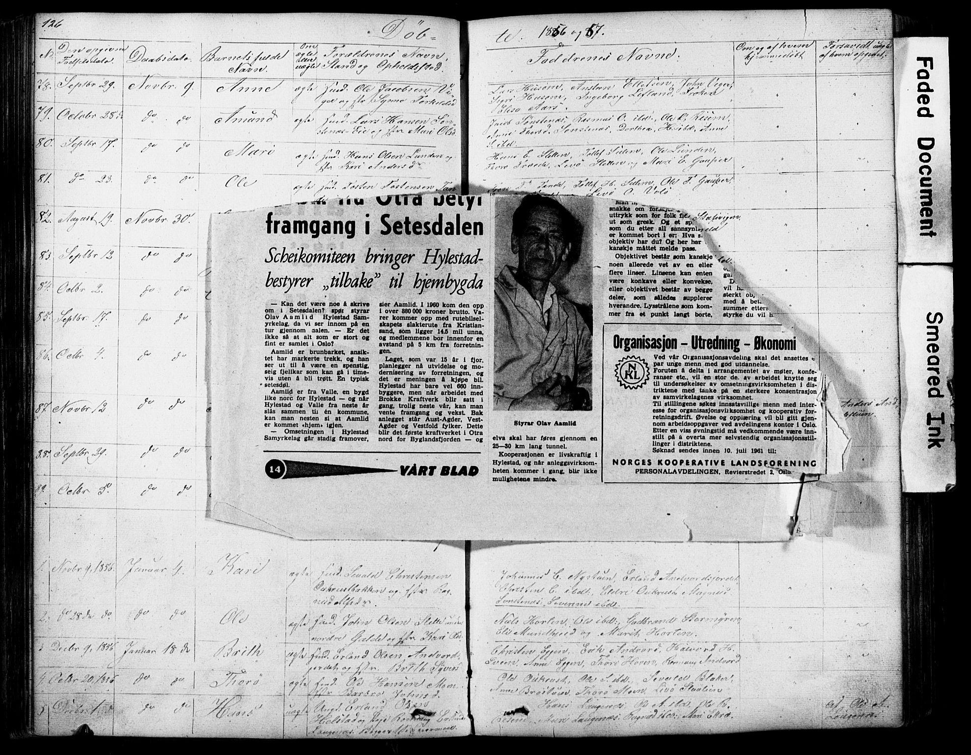 SAH, Lom prestekontor, L/L0012: Klokkerbok nr. 12, 1845-1873, s. 126-127