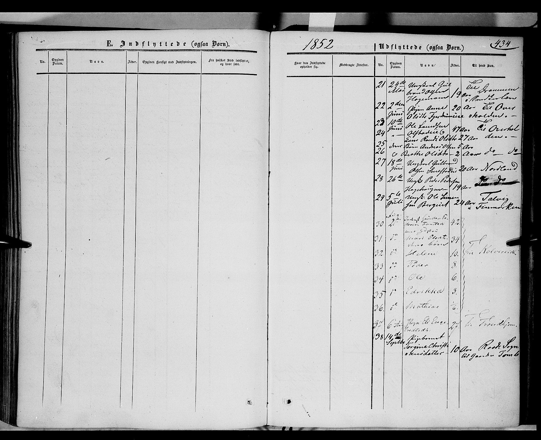 SAH, Gausdal prestekontor, Ministerialbok nr. 8, 1850-1861, s. 434