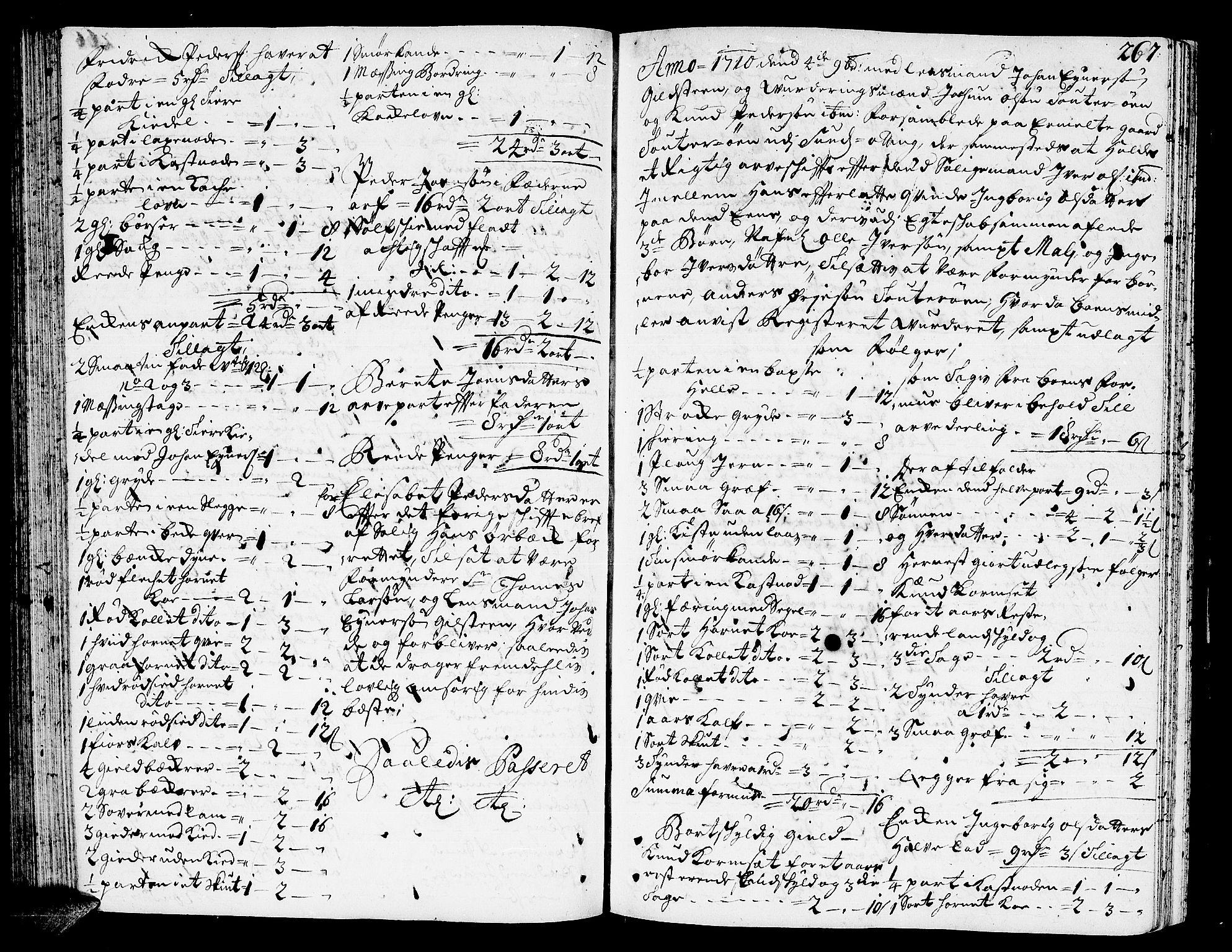 SAT, Romsdal sorenskriveri, 3/3A/L0005: Skifteprotokoll, 1707-1711, s. 266b-267a