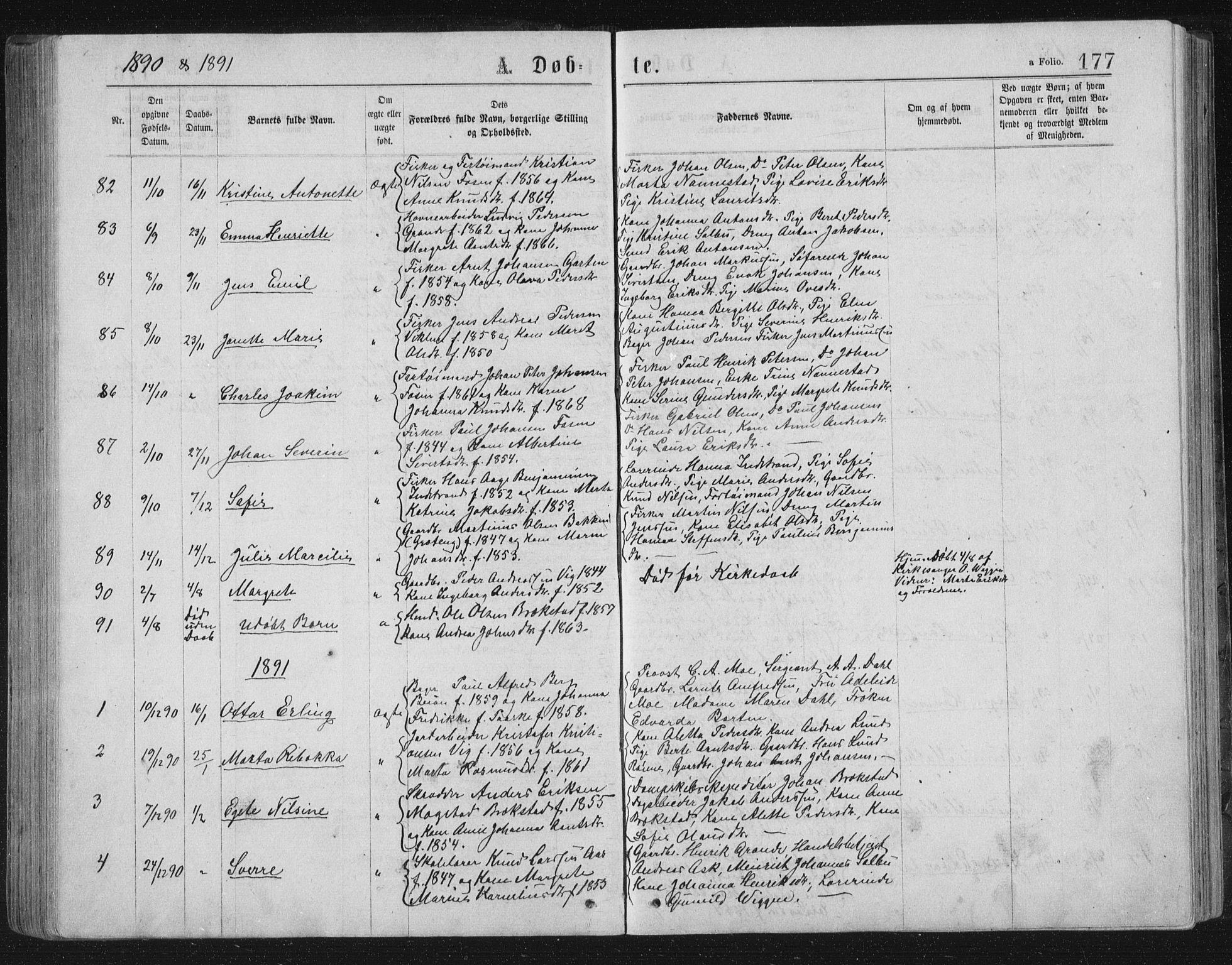 SAT, Ministerialprotokoller, klokkerbøker og fødselsregistre - Sør-Trøndelag, 659/L0745: Klokkerbok nr. 659C02, 1869-1892, s. 177
