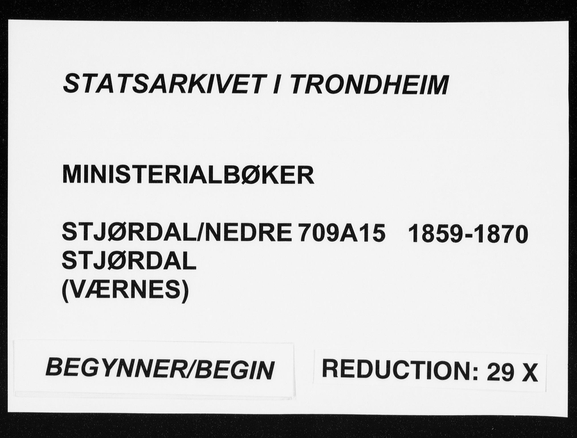 SAT, Ministerialprotokoller, klokkerbøker og fødselsregistre - Nord-Trøndelag, 709/L0075: Ministerialbok nr. 709A15, 1859-1870