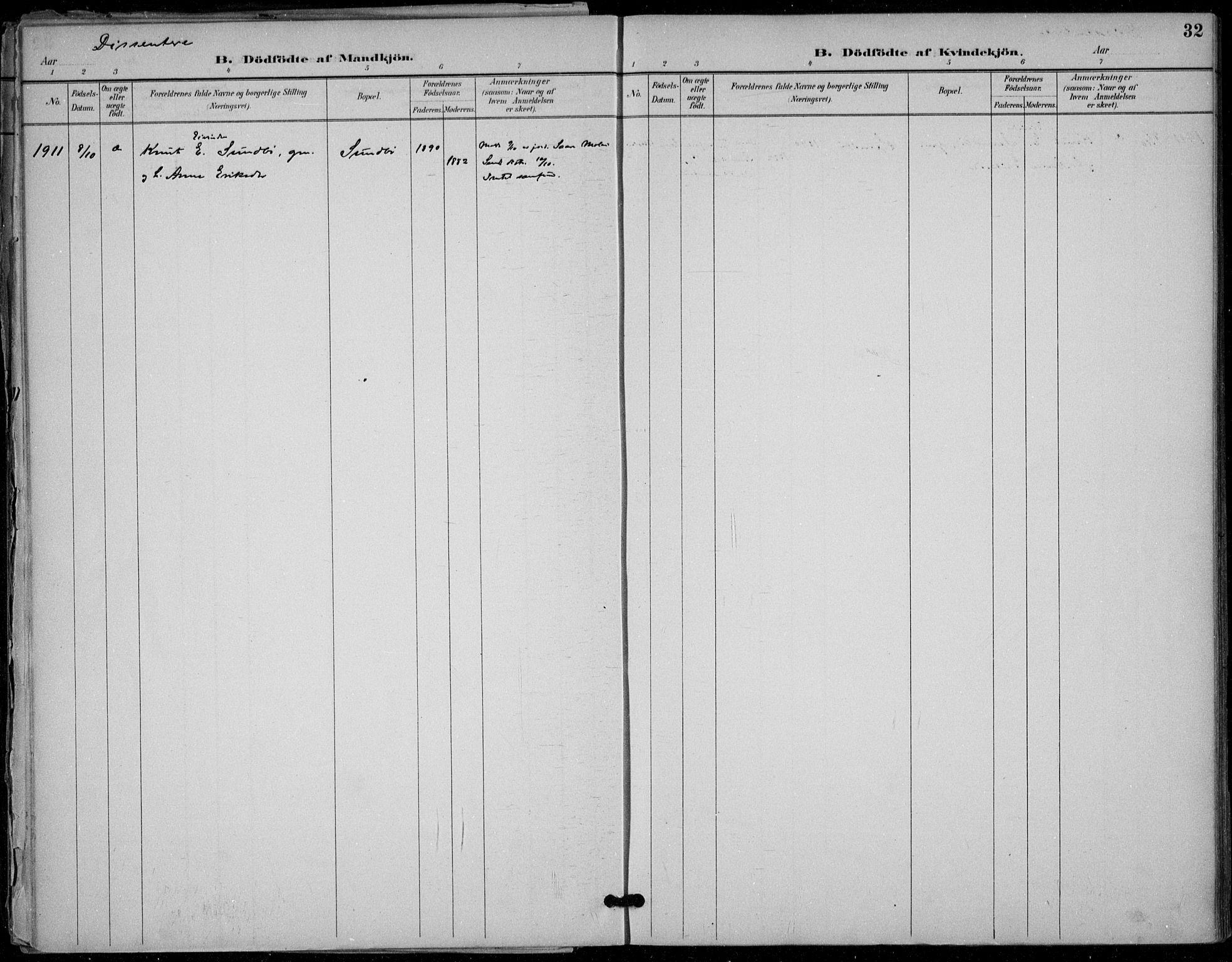 SAKO, Seljord kirkebøker, F/Fb/L0002: Ministerialbok nr. II 2, 1887-1917, s. 32