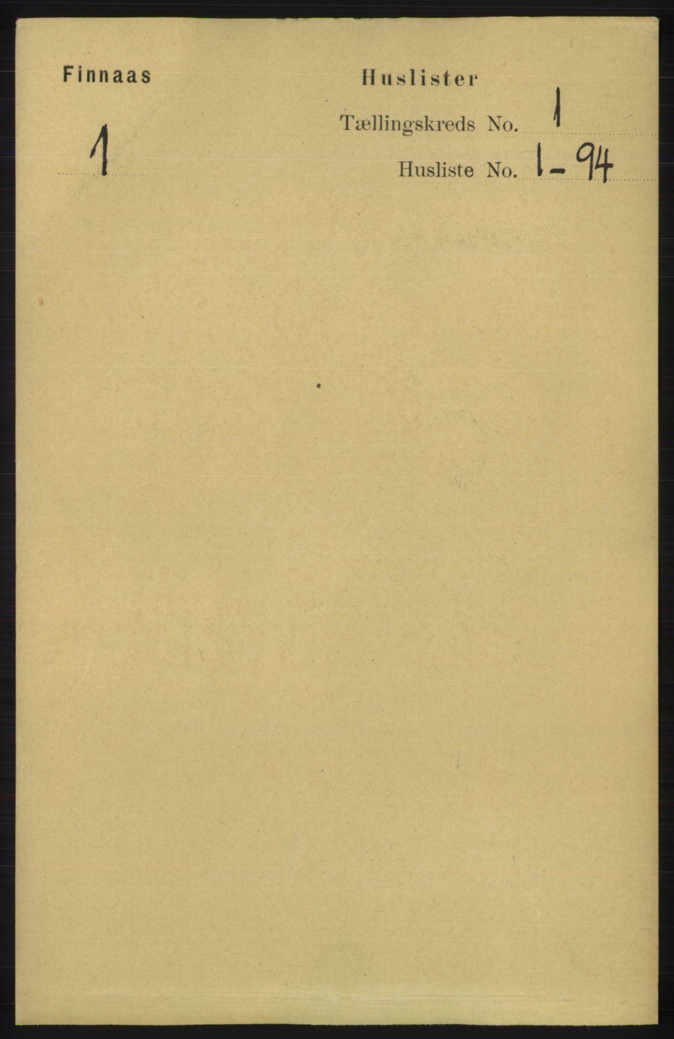 RA, Folketelling 1891 for 1218 Finnås herred, 1891, s. 39