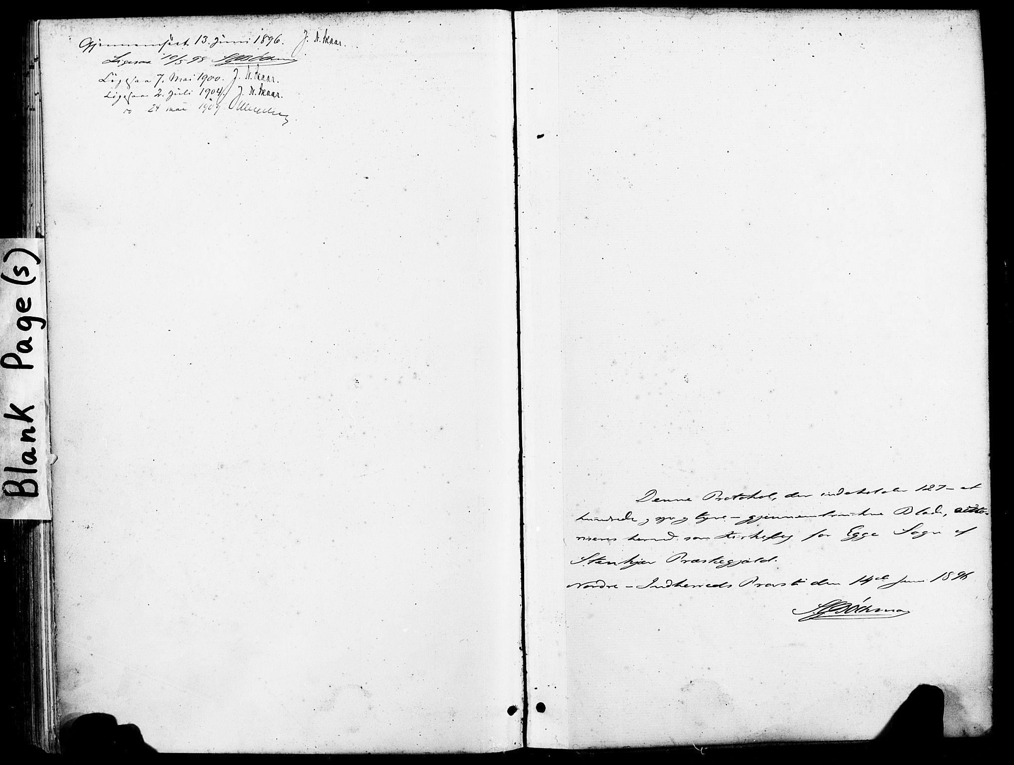 SAT, Ministerialprotokoller, klokkerbøker og fødselsregistre - Nord-Trøndelag, 740/L0379: Ministerialbok nr. 740A02, 1895-1907