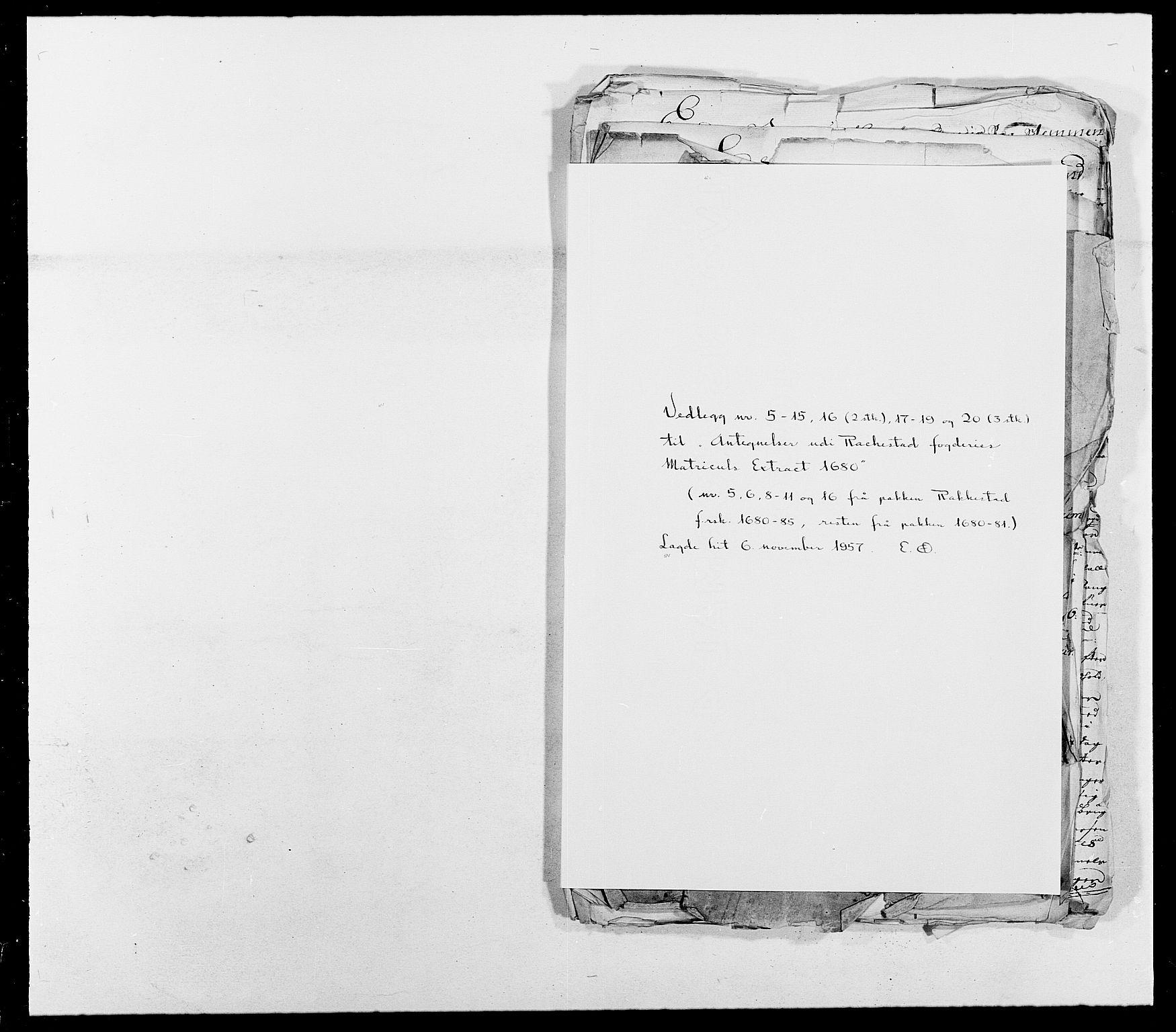 RA, Rentekammeret inntil 1814, Reviderte regnskaper, Fogderegnskap, R05/L0276: Fogderegnskap Rakkestad, 1683-1688, s. 410