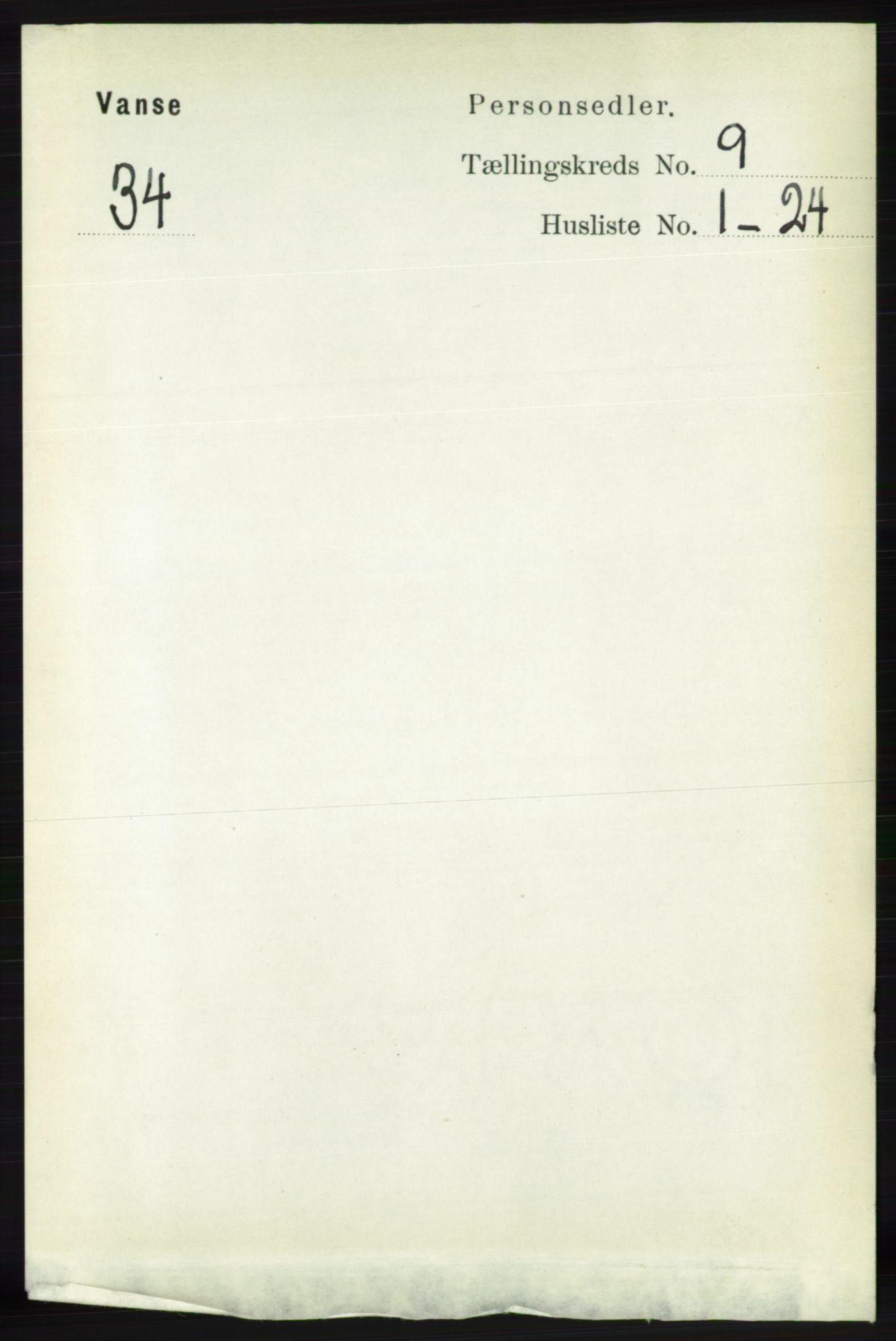 RA, Folketelling 1891 for 1041 Vanse herred, 1891, s. 5267