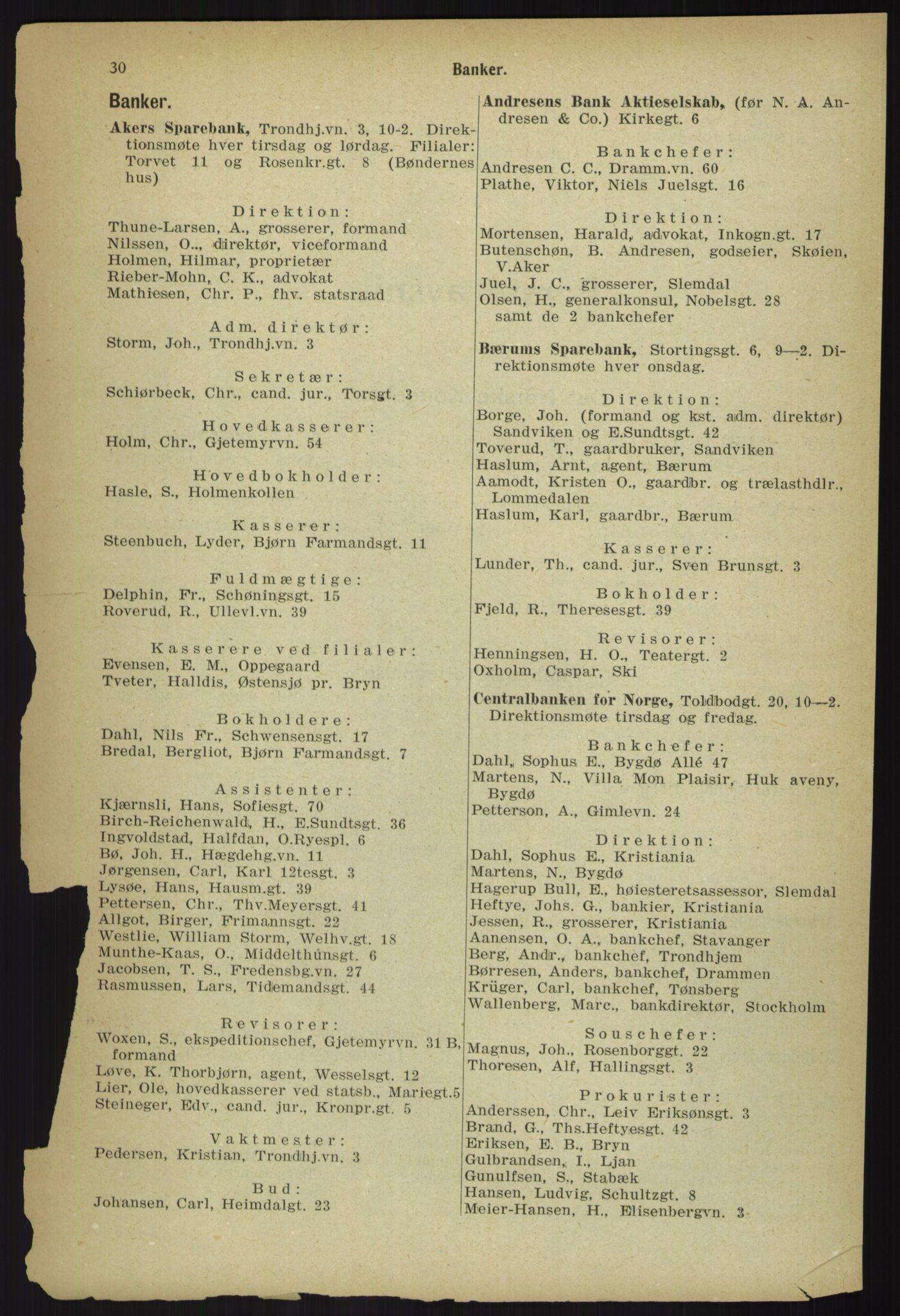 PUBL, Kristiania/Oslo adressebok, 1918, s. 37