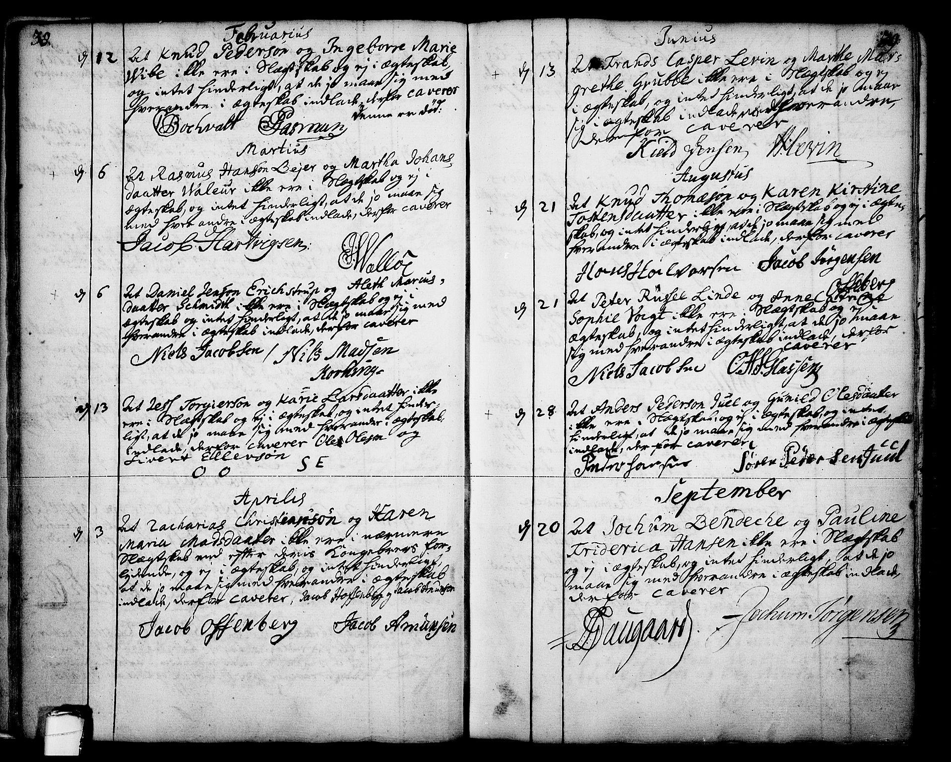 SAKO, Skien kirkebøker, F/Fa/L0003: Ministerialbok nr. 3, 1755-1791, s. 38-39