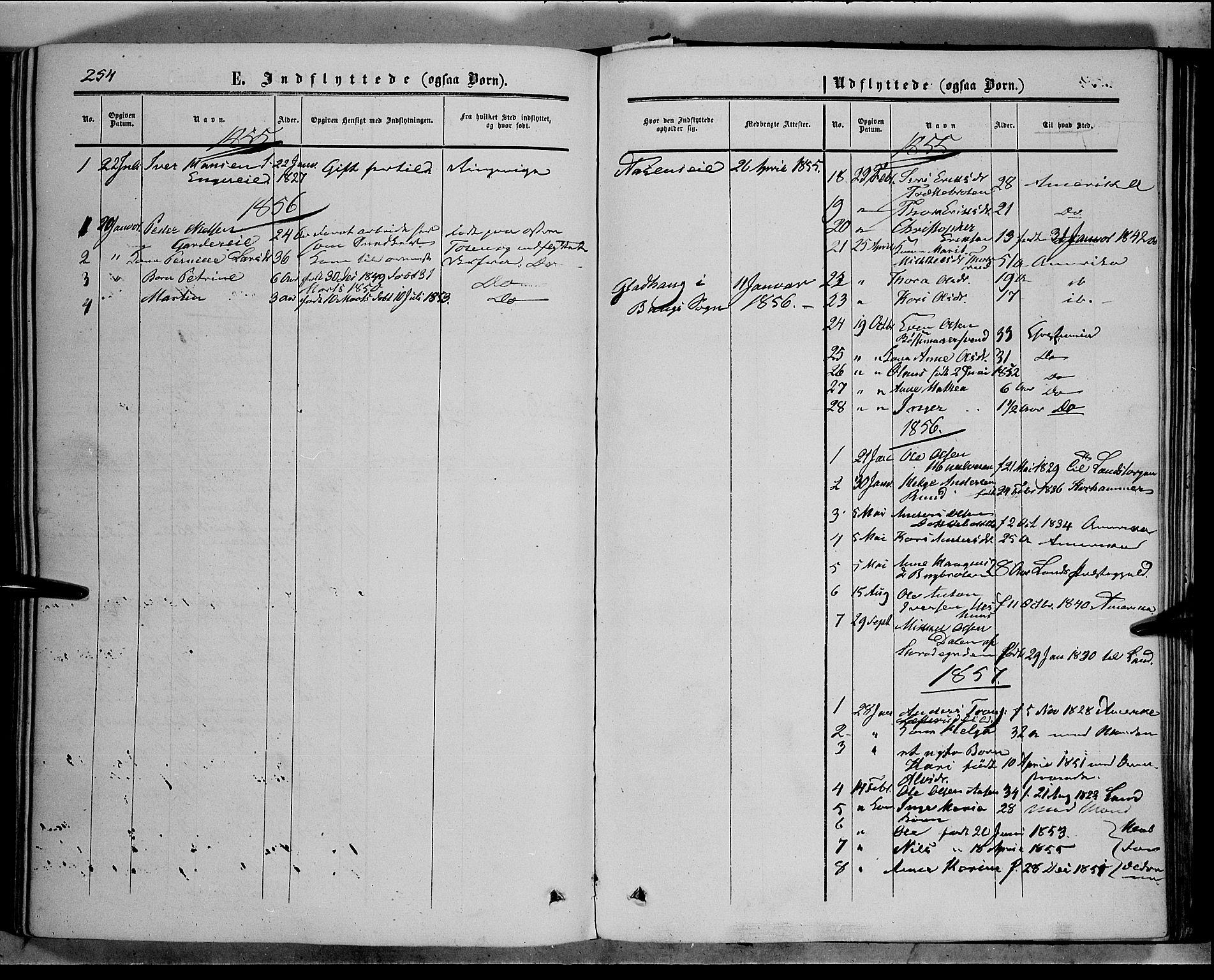 SAH, Sør-Aurdal prestekontor, Ministerialbok nr. 5, 1849-1876, s. 254