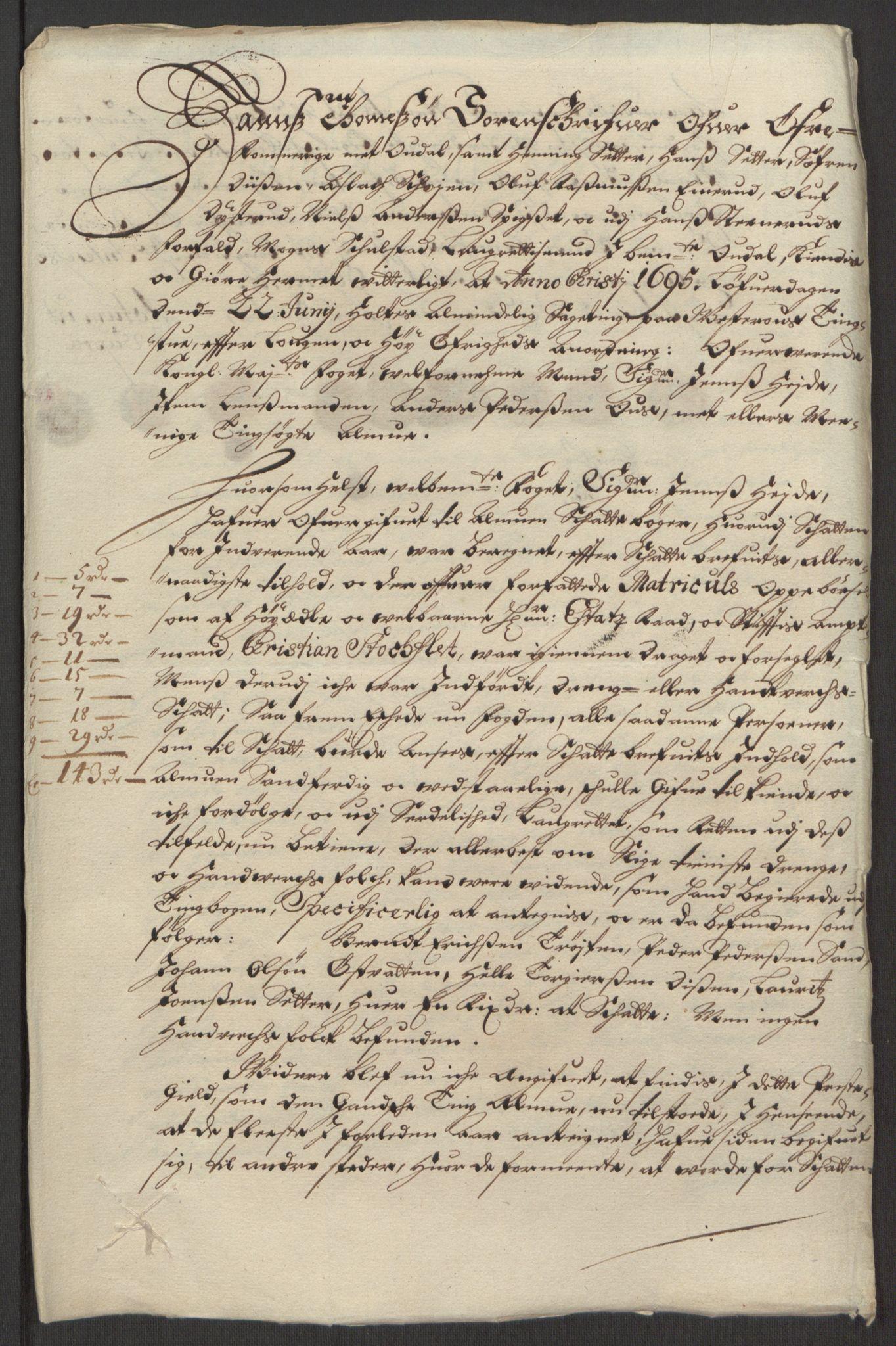 RA, Rentekammeret inntil 1814, Reviderte regnskaper, Fogderegnskap, R13/L0833: Fogderegnskap Solør, Odal og Østerdal, 1695, s. 240