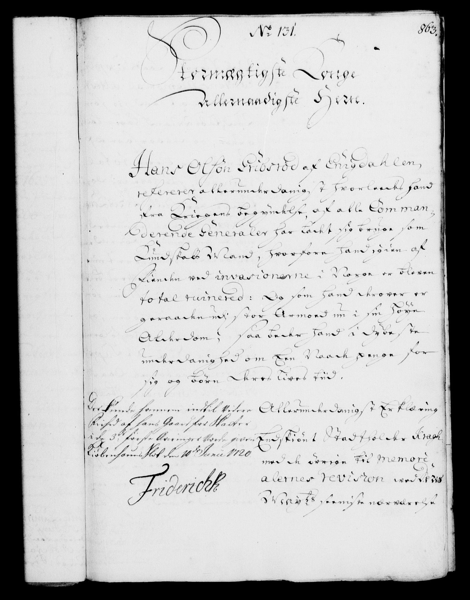 RA, Rentekammeret, Kammerkanselliet, G/Gf/Gfa/L0002: Norsk relasjons- og resolusjonsprotokoll (merket RK 52.2), 1720, s. 836