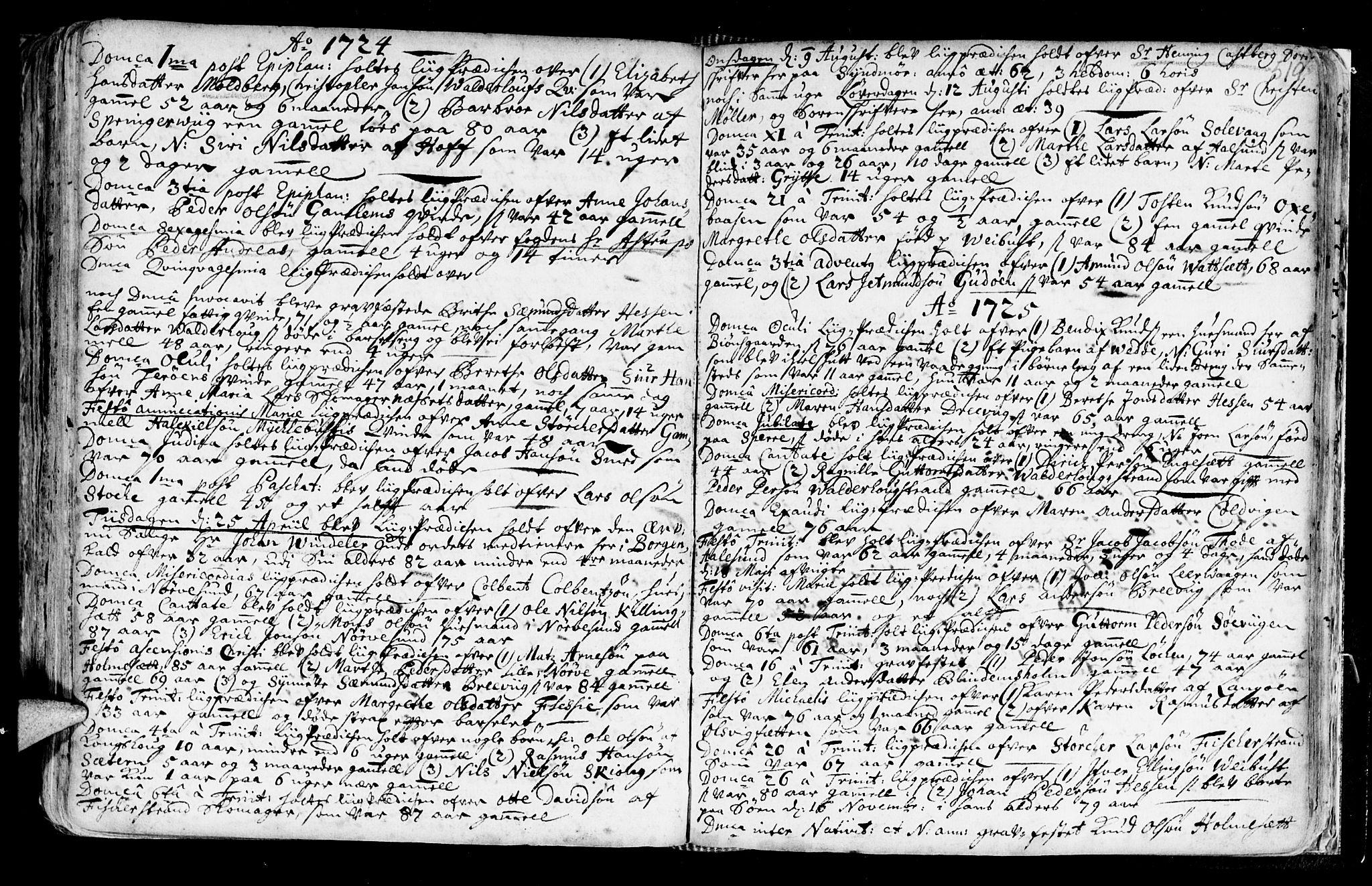 SAT, Ministerialprotokoller, klokkerbøker og fødselsregistre - Møre og Romsdal, 528/L0390: Ministerialbok nr. 528A01, 1698-1739, s. 518-519
