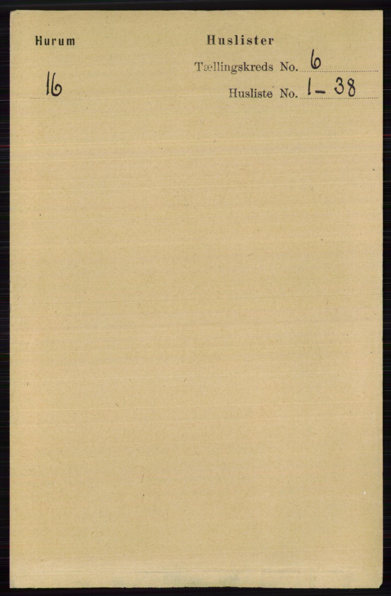 RA, Folketelling 1891 for 0628 Hurum herred, 1891, s. 1936