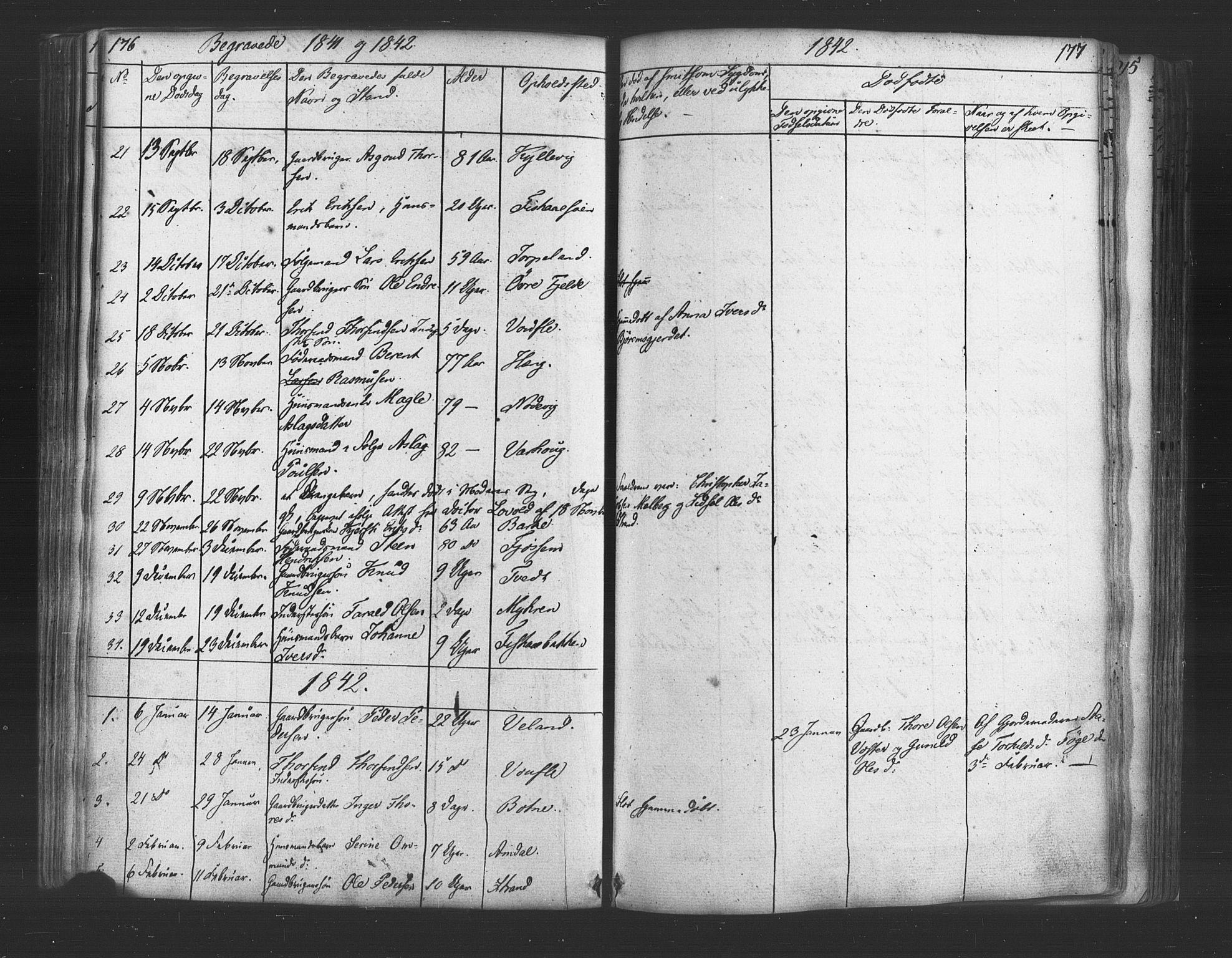 SAST, Strand sokneprestkontor, H/Ha/Haa/L0006: Ministerialbok nr. A 6, 1834-1854, s. 176-177