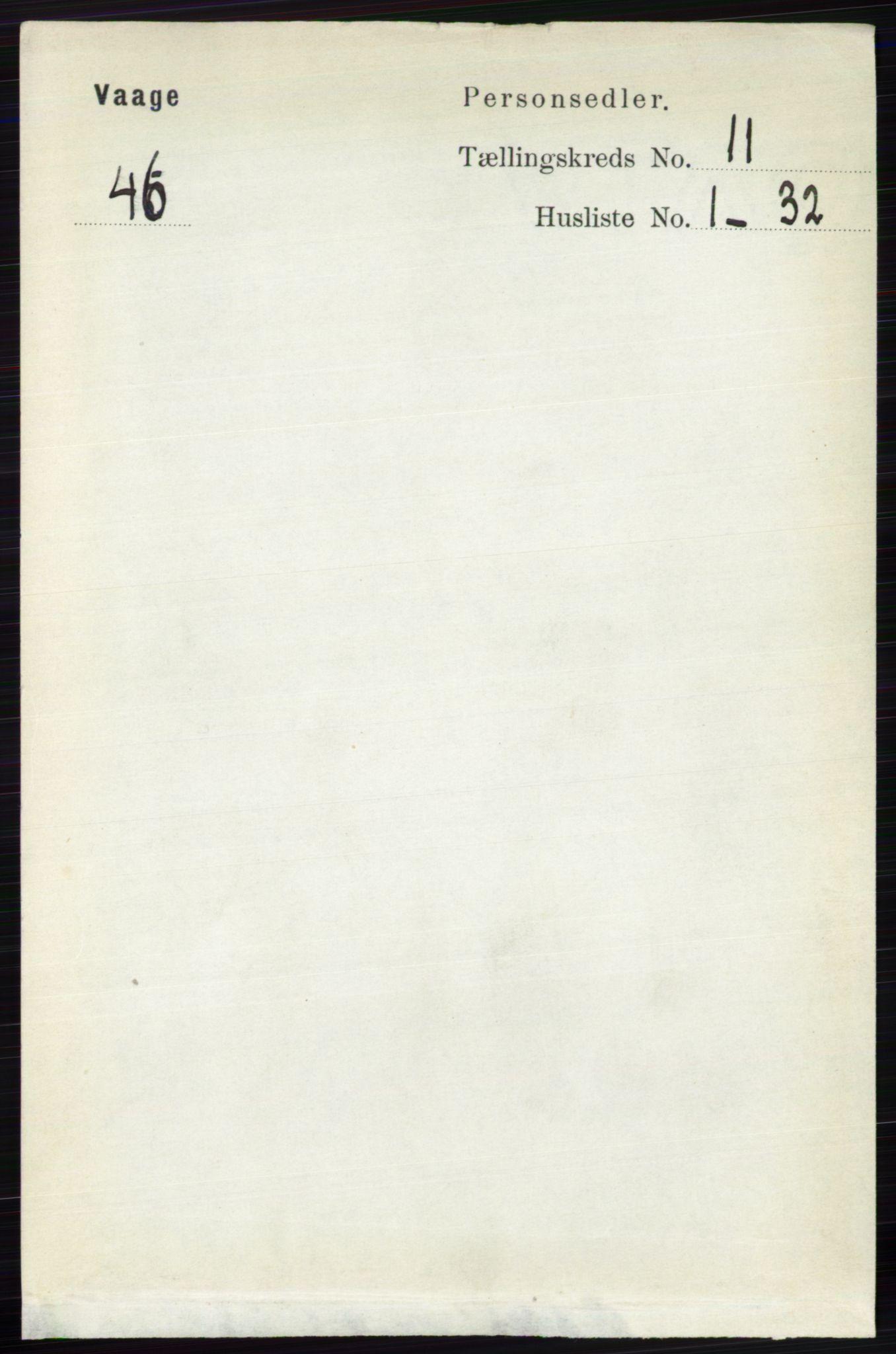 RA, Folketelling 1891 for 0515 Vågå herred, 1891, s. 6863