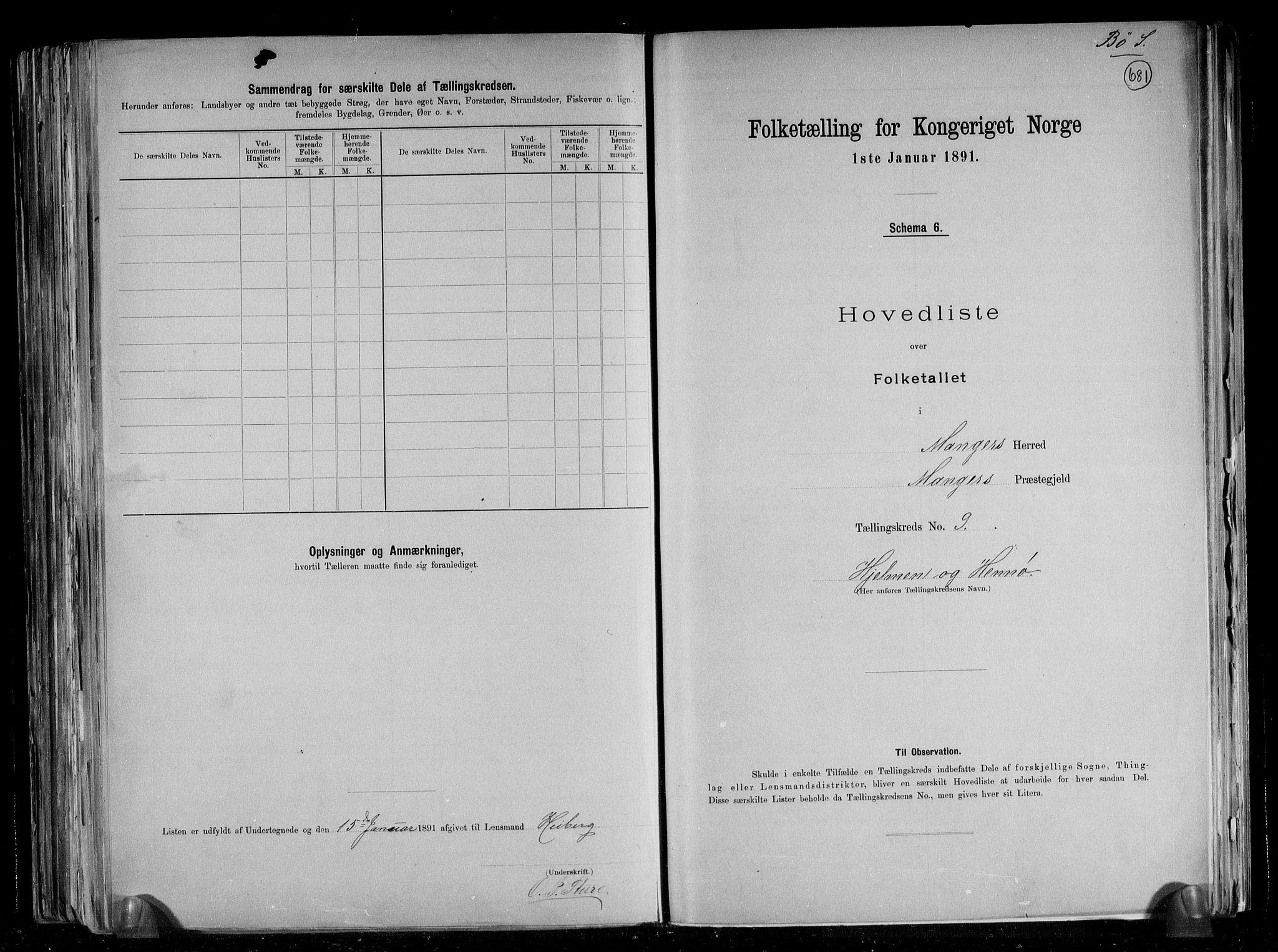 RA, Folketelling 1891 for 1261 Manger herred, 1891, s. 32