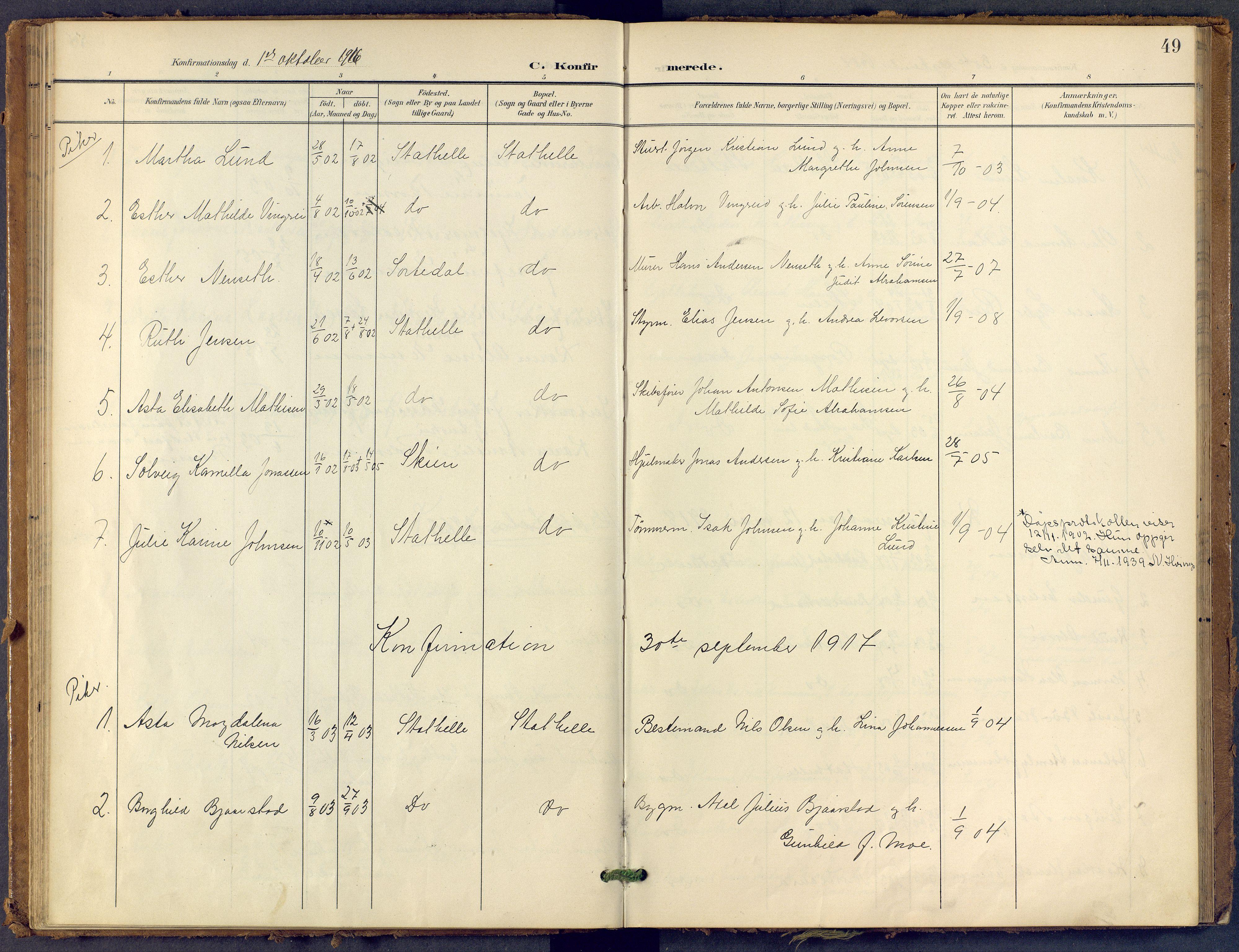 SAKO, Bamble kirkebøker, F/Fb/L0002: Ministerialbok nr. II 2, 1900-1921, s. 49