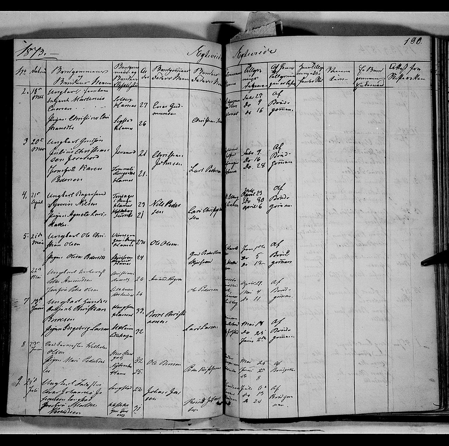 SAH, Vang prestekontor, Hedmark, H/Ha/Haa/L0011: Ministerialbok nr. 11, 1852-1877, s. 190