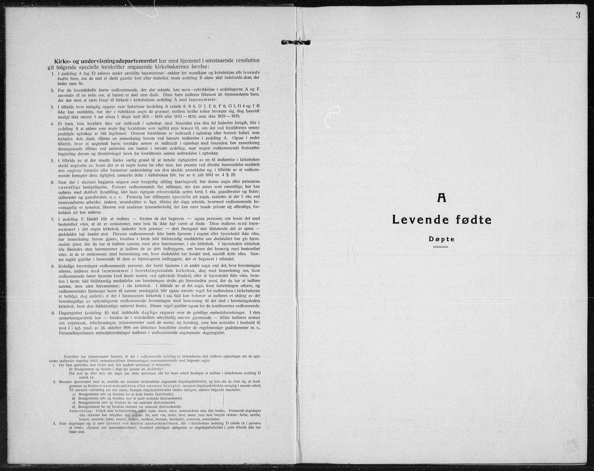 SAH, Vardal prestekontor, H/Ha/Hab/L0017: Klokkerbok nr. 17, 1922-1941, s. 3