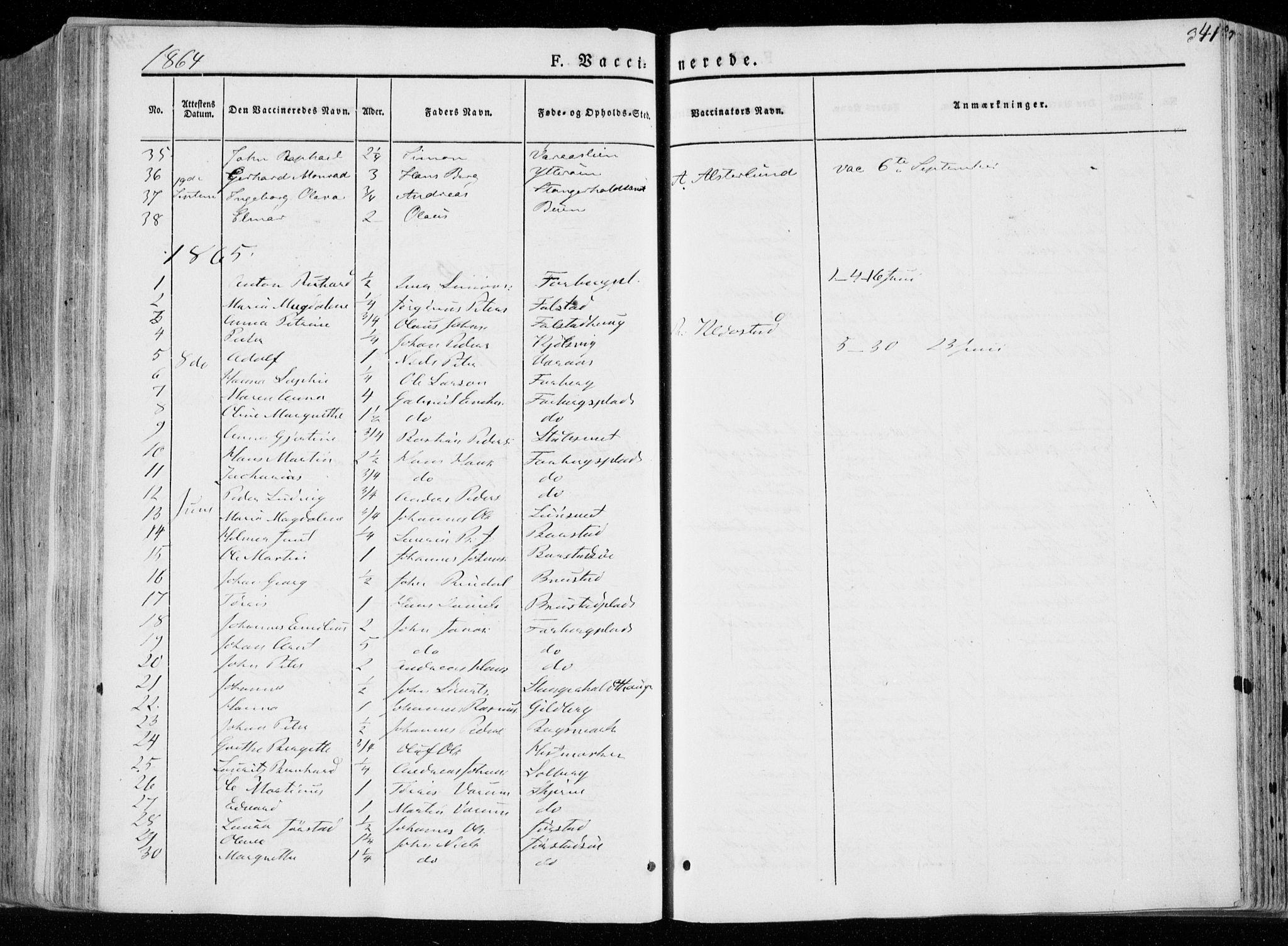 SAT, Ministerialprotokoller, klokkerbøker og fødselsregistre - Nord-Trøndelag, 722/L0218: Ministerialbok nr. 722A05, 1843-1868, s. 341