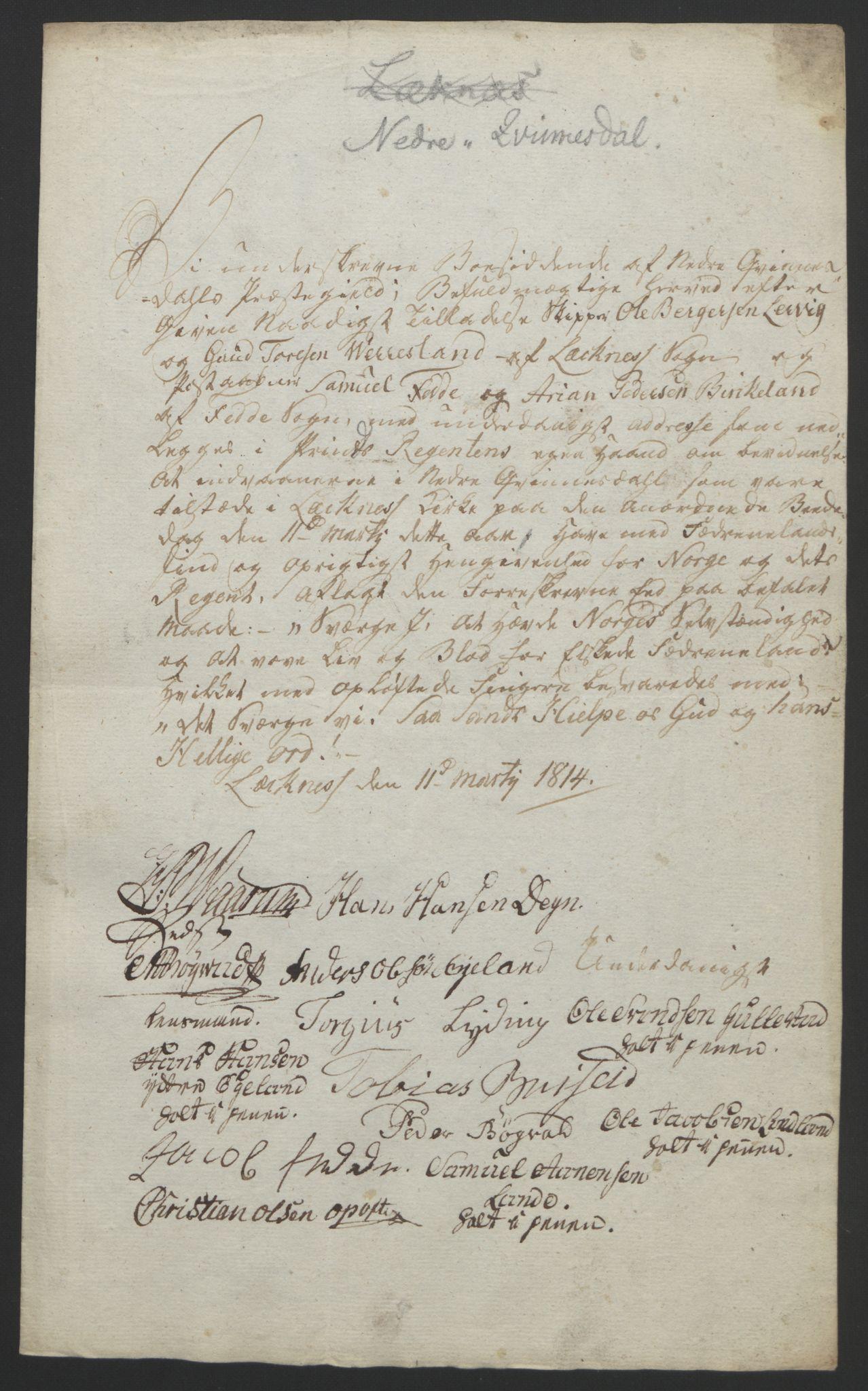 RA, Statsrådssekretariatet, D/Db/L0008: Fullmakter for Eidsvollsrepresentantene i 1814. , 1814, s. 178