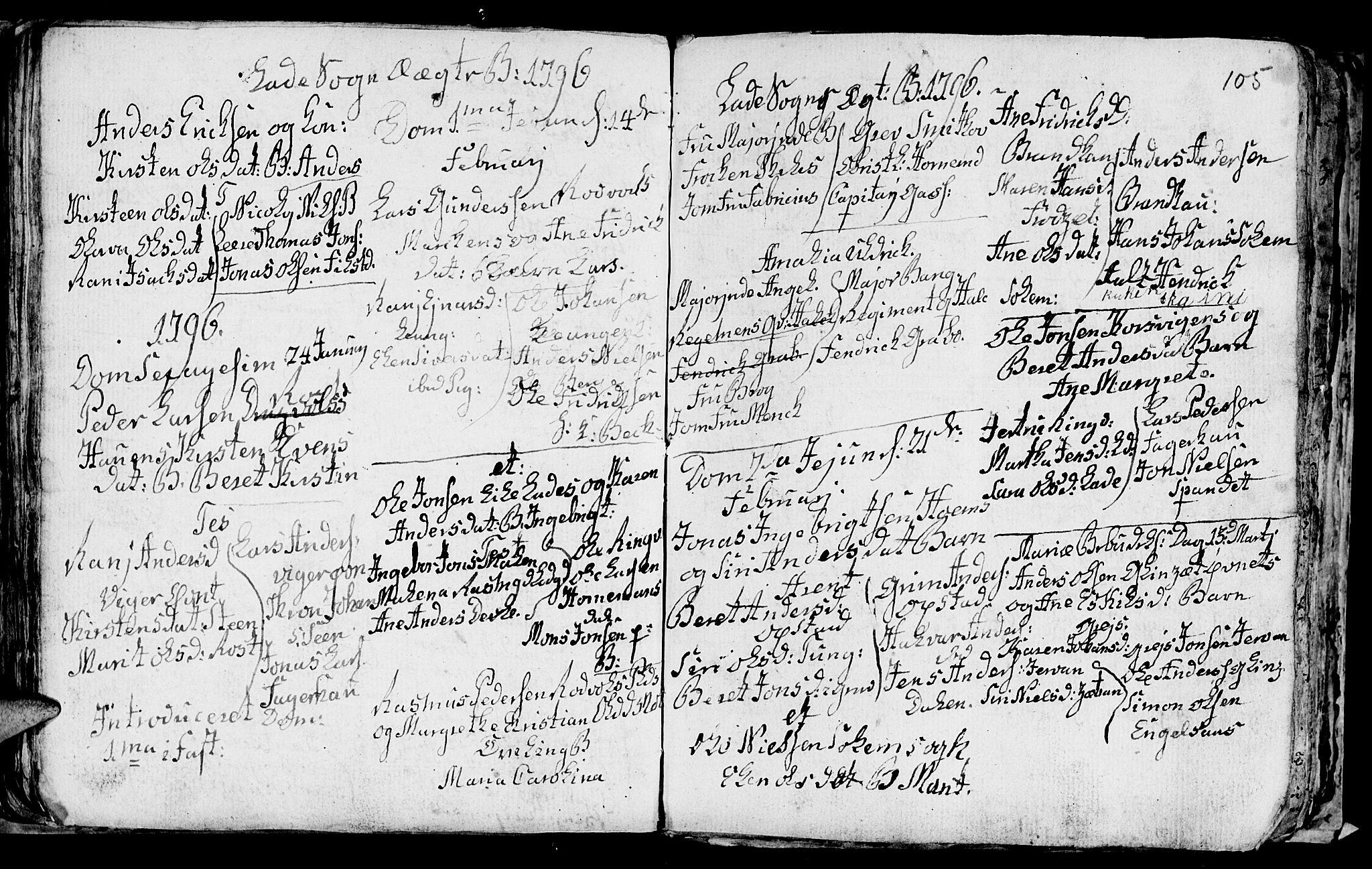 SAT, Ministerialprotokoller, klokkerbøker og fødselsregistre - Sør-Trøndelag, 606/L0305: Klokkerbok nr. 606C01, 1757-1819, s. 105