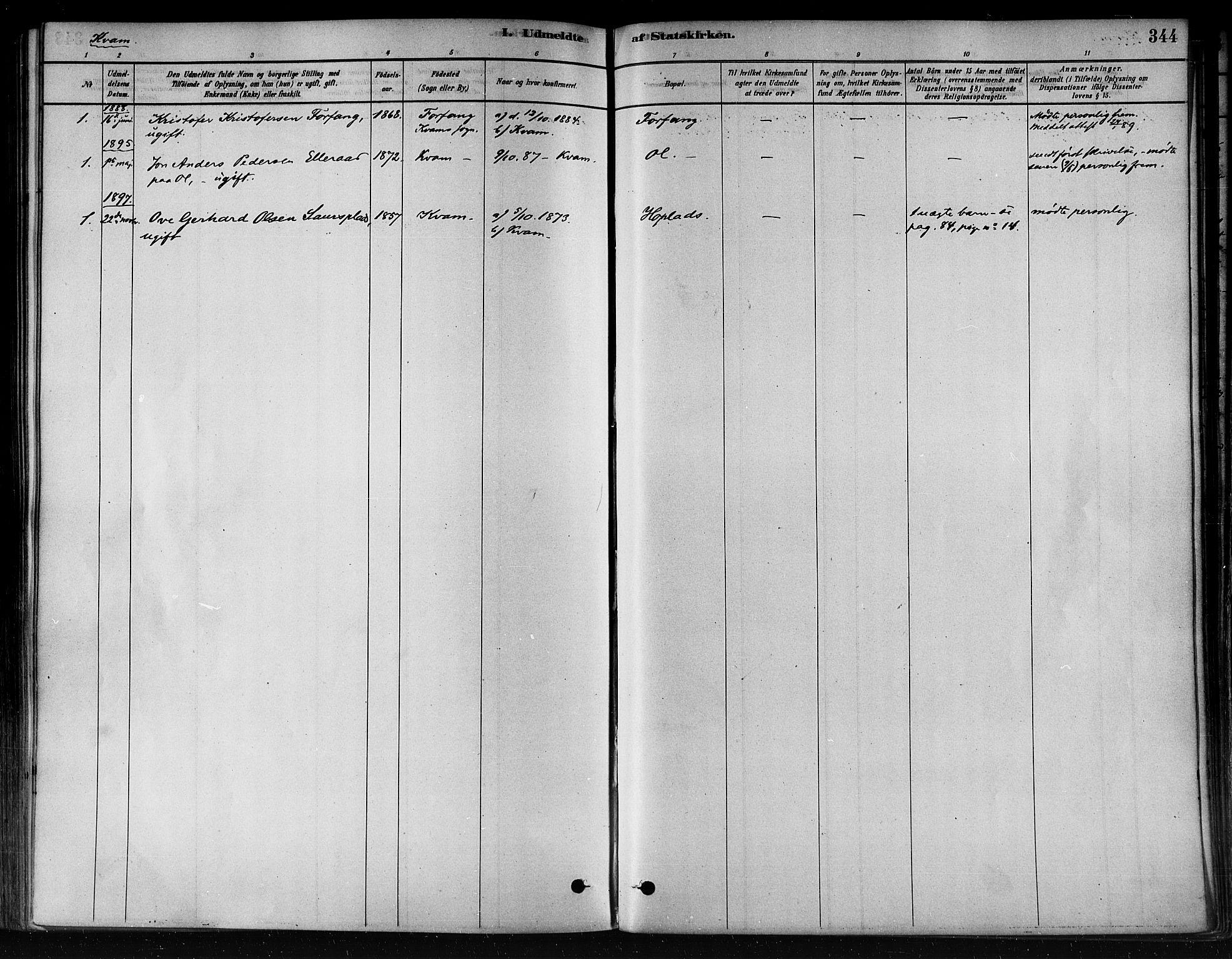 SAT, Ministerialprotokoller, klokkerbøker og fødselsregistre - Nord-Trøndelag, 746/L0449: Ministerialbok nr. 746A07 /2, 1878-1899, s. 344