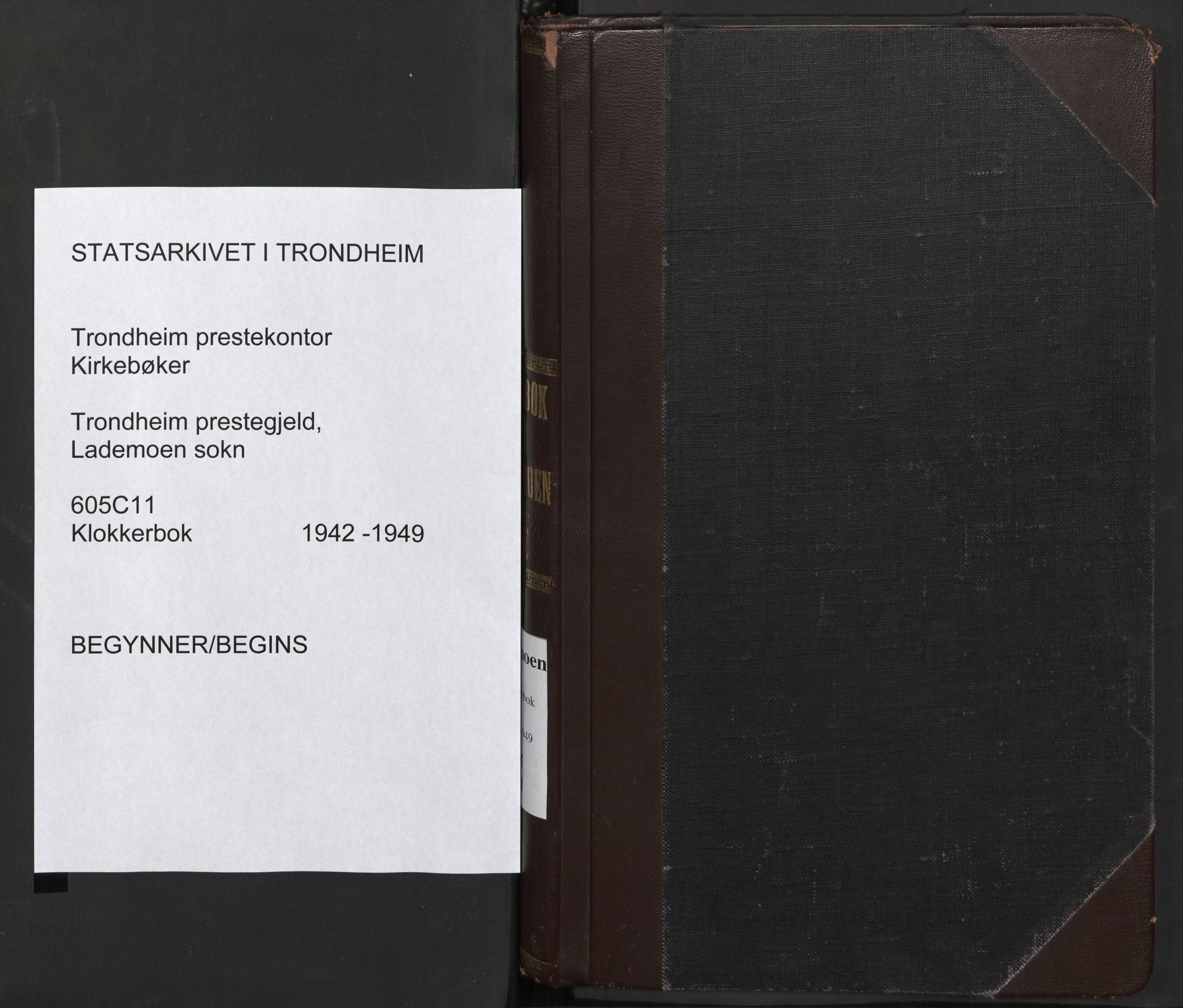 SAT, Ministerialprotokoller, klokkerbøker og fødselsregistre - Sør-Trøndelag, 605/L0264: Klokkerbok nr. 605C11, 1942-1949