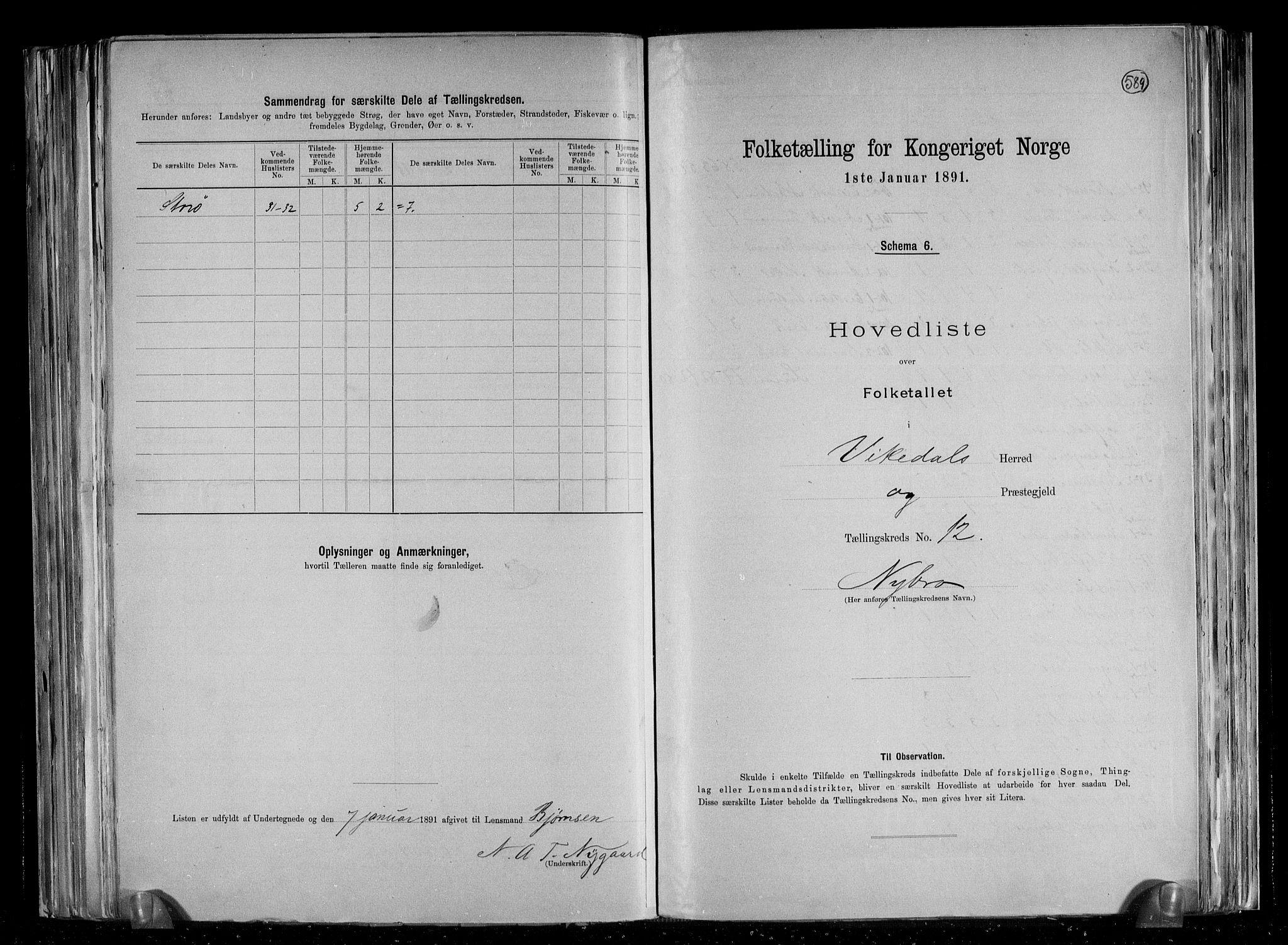 RA, Folketelling 1891 for 1157 Vikedal herred, 1891, s. 27