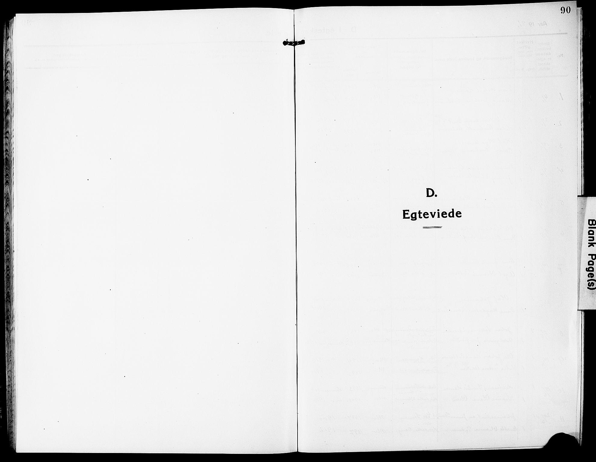 SAT, Ministerialprotokoller, klokkerbøker og fødselsregistre - Nordland, 827/L0424: Klokkerbok nr. 827C13, 1921-1930, s. 90