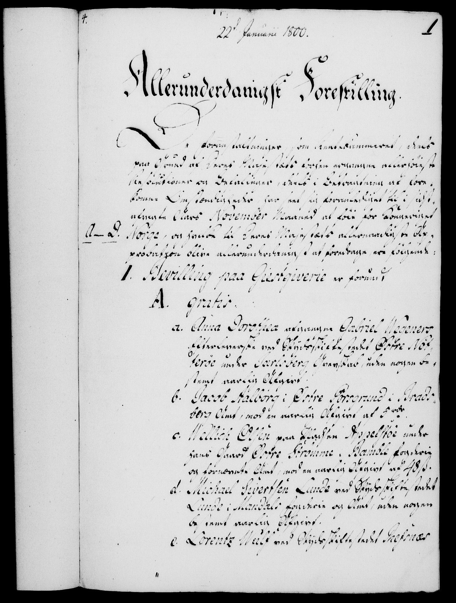 RA, Rentekammeret, Kammerkanselliet, G/Gf/Gfa/L0082: Norsk relasjons- og resolusjonsprotokoll (merket RK 52.82), 1800, s. 28