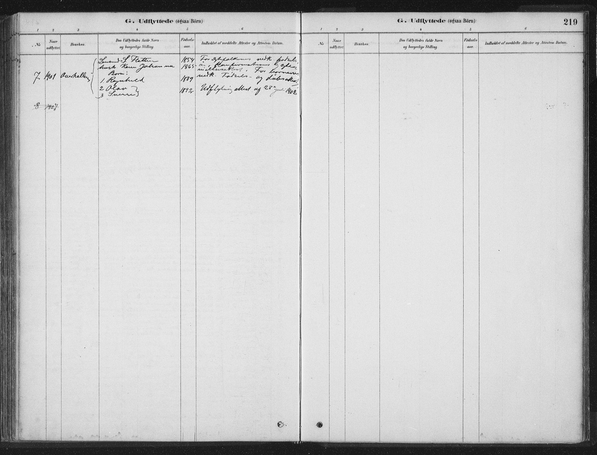 SAT, Ministerialprotokoller, klokkerbøker og fødselsregistre - Nord-Trøndelag, 788/L0697: Ministerialbok nr. 788A04, 1878-1902, s. 219