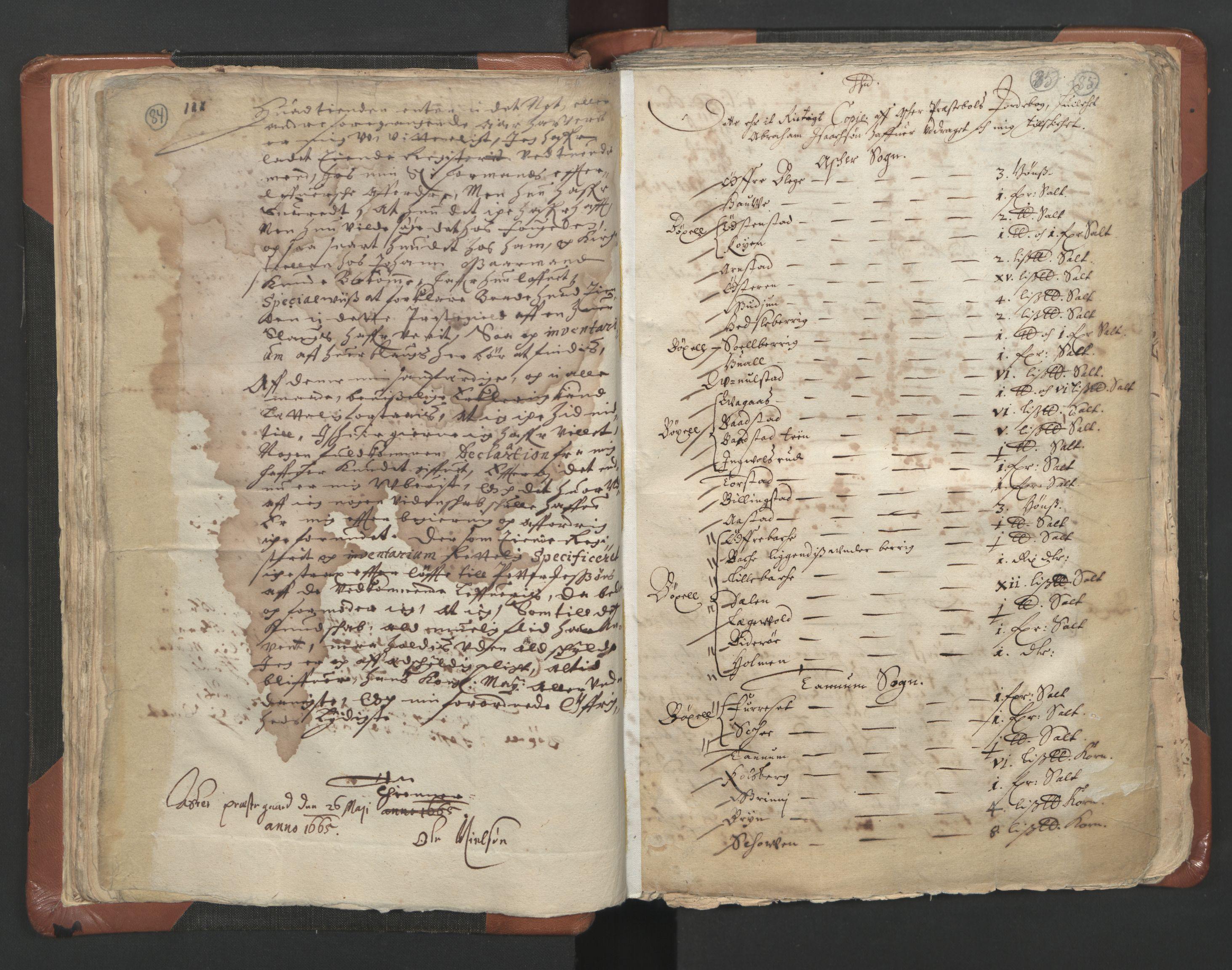 RA, Sogneprestenes manntall 1664-1666, nr. 9: Bragernes prosti, 1664-1666, s. 84-85