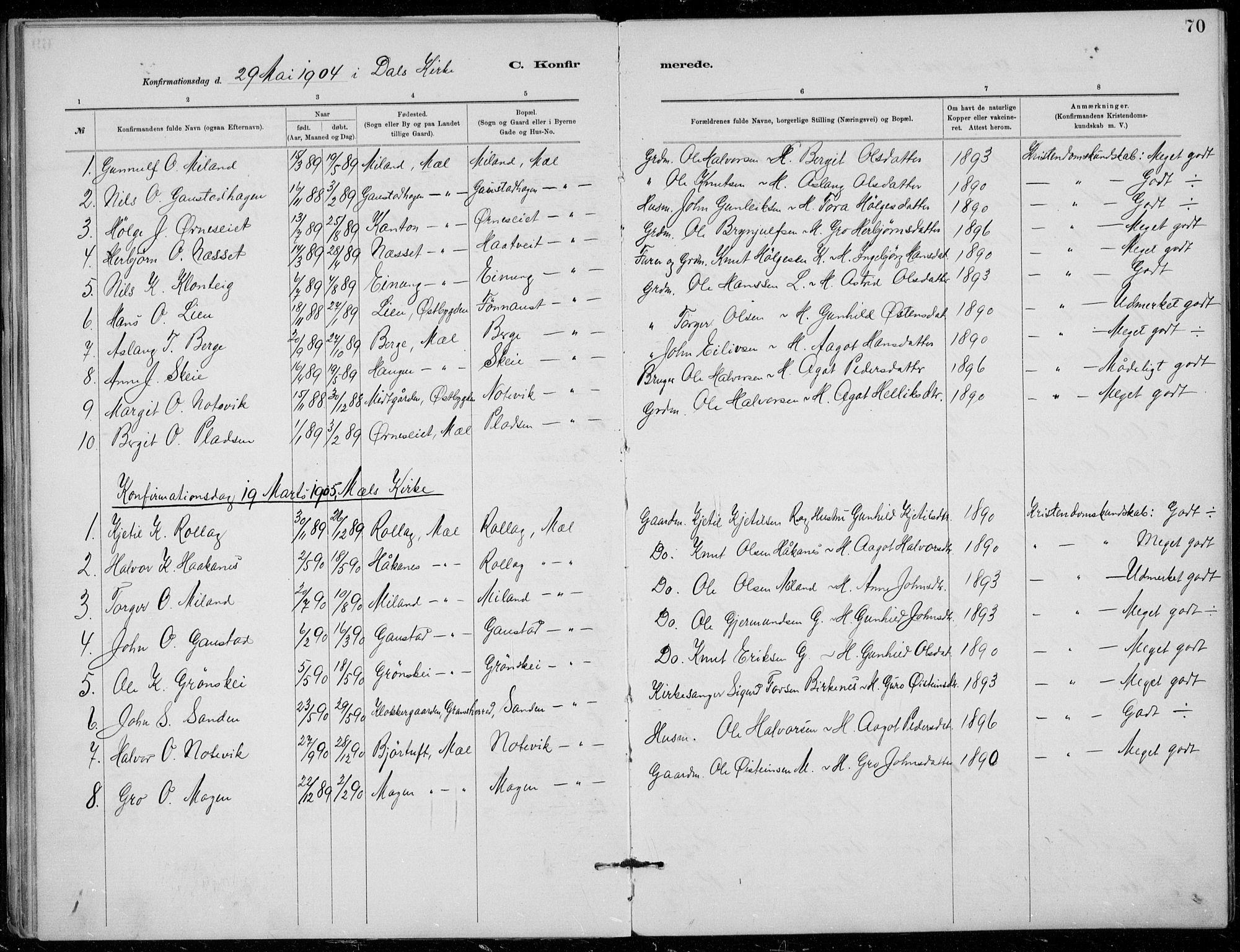 SAKO, Tinn kirkebøker, F/Fb/L0002: Ministerialbok nr. II 2, 1878-1917, s. 70