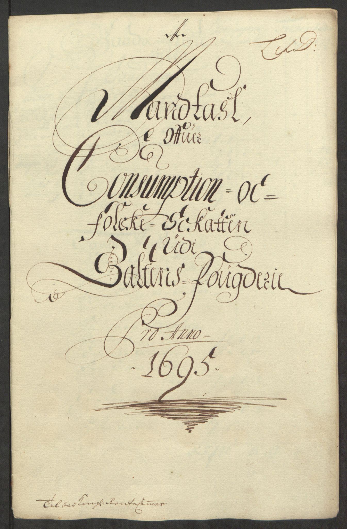 RA, Rentekammeret inntil 1814, Reviderte regnskaper, Fogderegnskap, R66/L4578: Fogderegnskap Salten, 1694-1696, s. 155