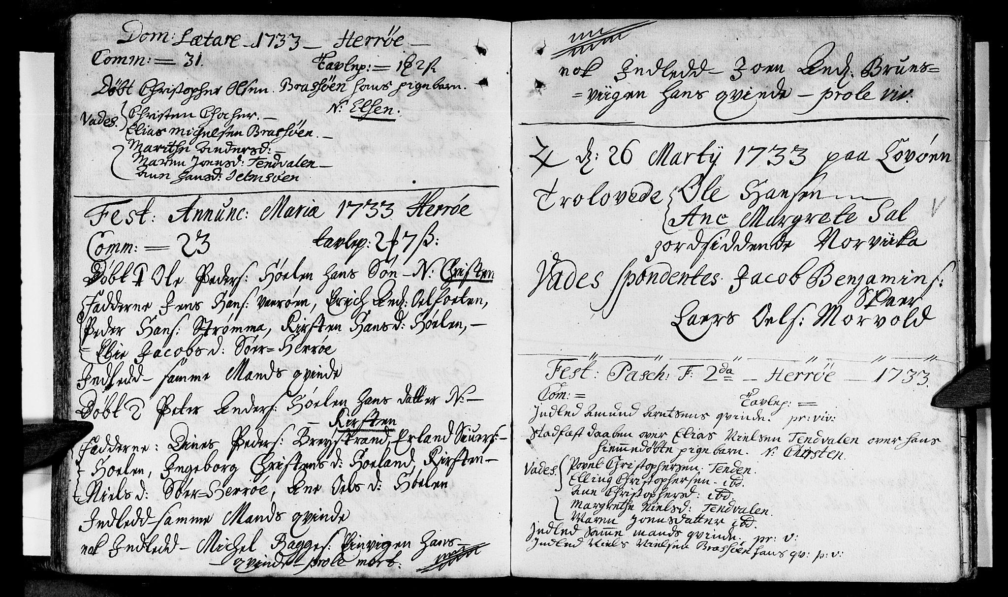 SAT, Ministerialprotokoller, klokkerbøker og fødselsregistre - Nordland, 834/L0503: Ministerialbok nr. 834A01, 1714-1737