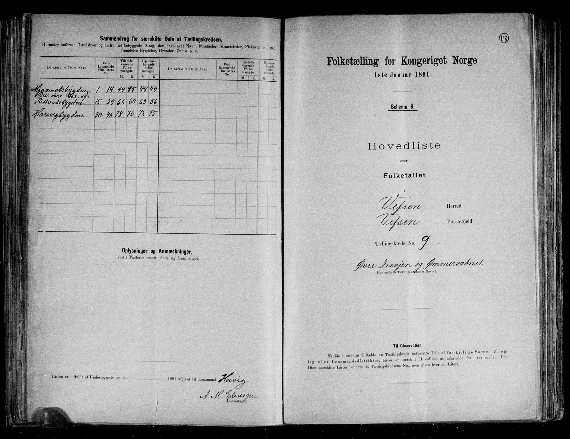 RA, Folketelling 1891 for 1824 Vefsn herred, 1891, s. 23