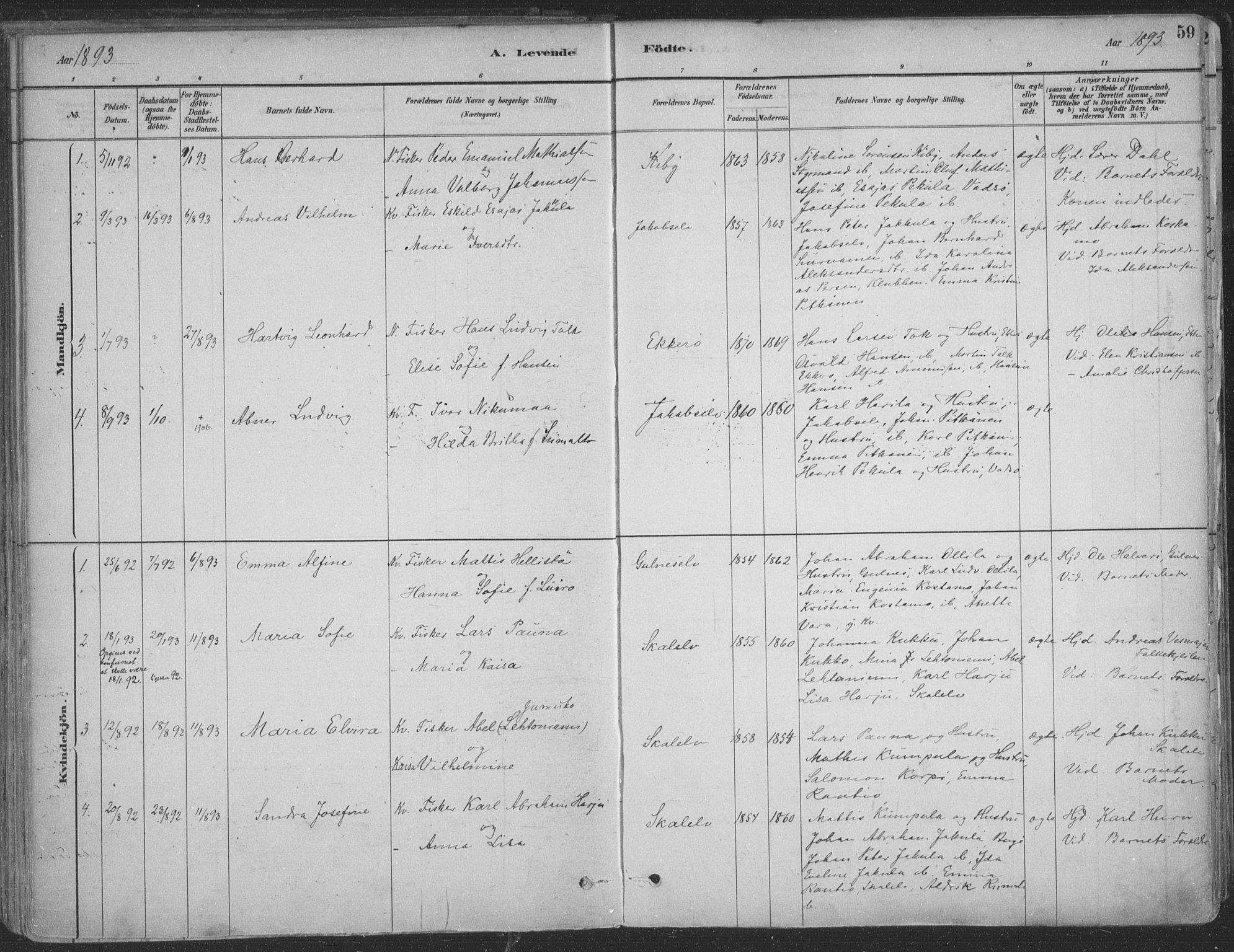 SATØ, Vadsø sokneprestkontor, H/Ha/L0009kirke: Ministerialbok nr. 9, 1881-1917, s. 59