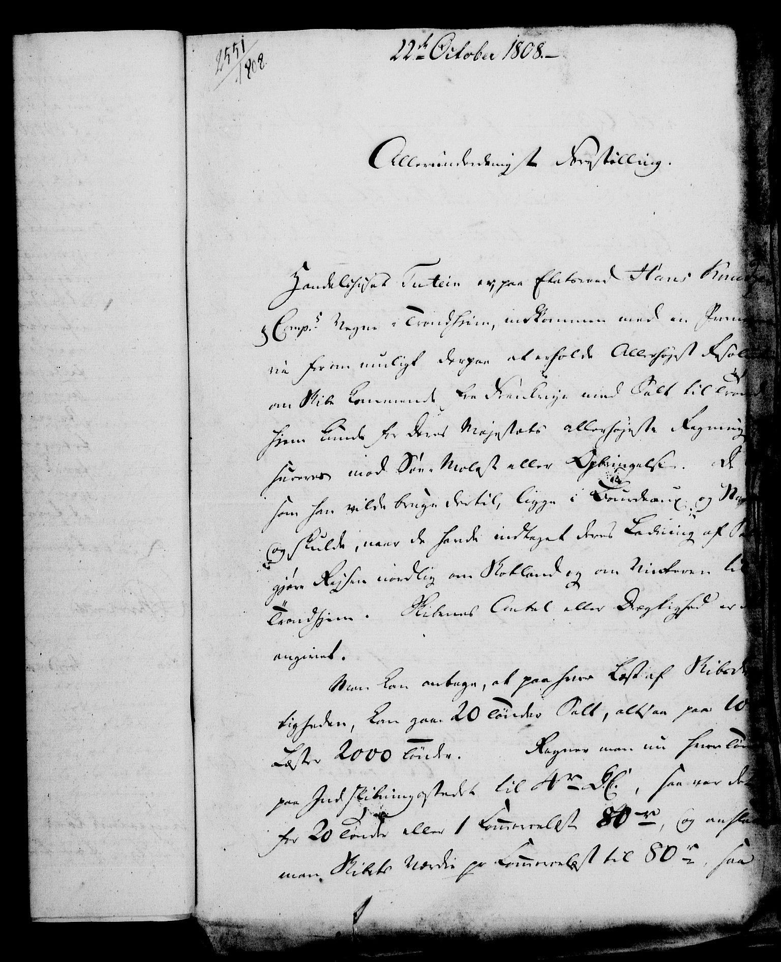 RA, Rentekammeret, Kammerkanselliet, G/Gf/Gfa/L0090: Norsk relasjons- og resolusjonsprotokoll (merket RK 52.90), 1808, s. 499