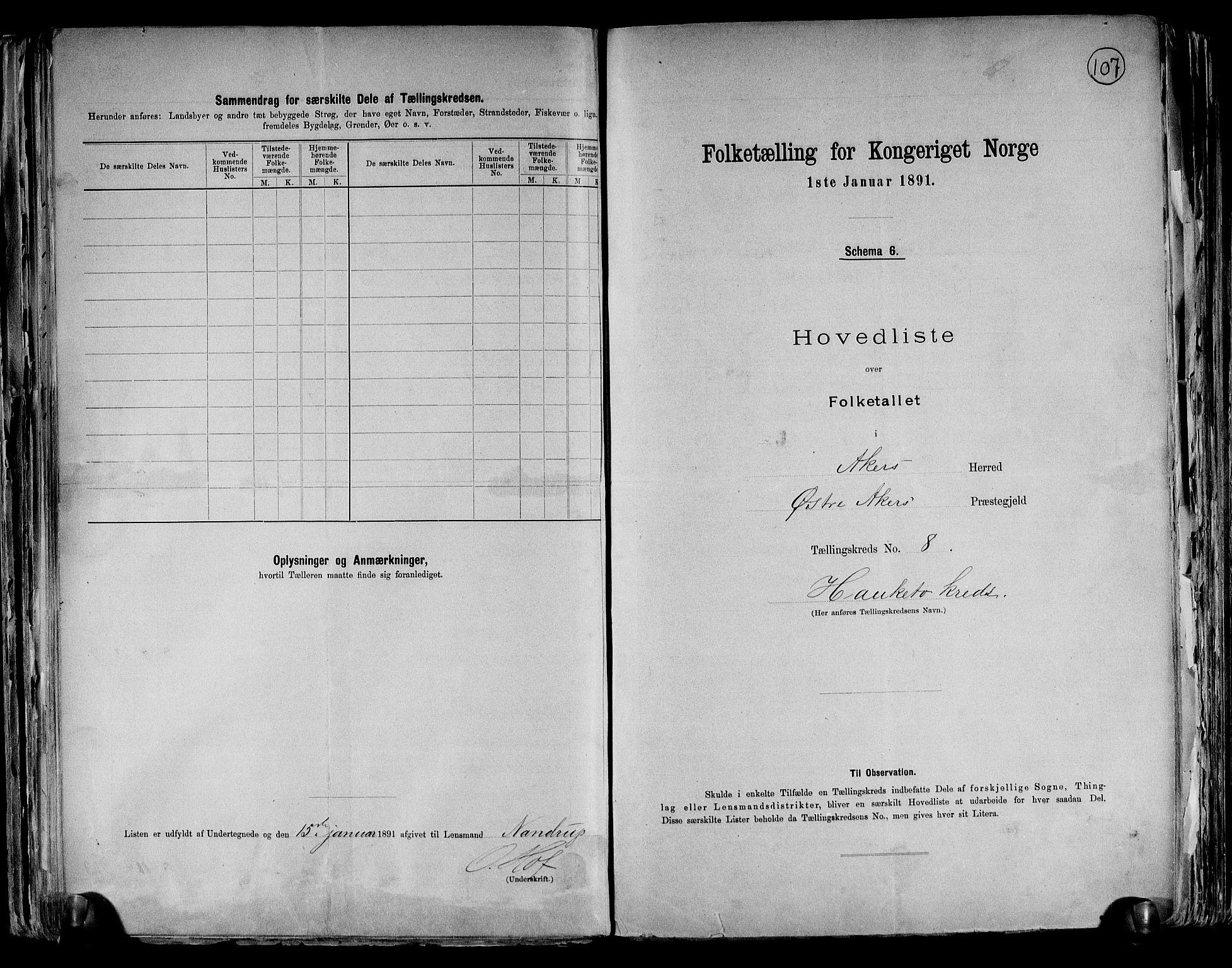 RA, Folketelling 1891 for 0218 Aker herred, 1891, s. 24